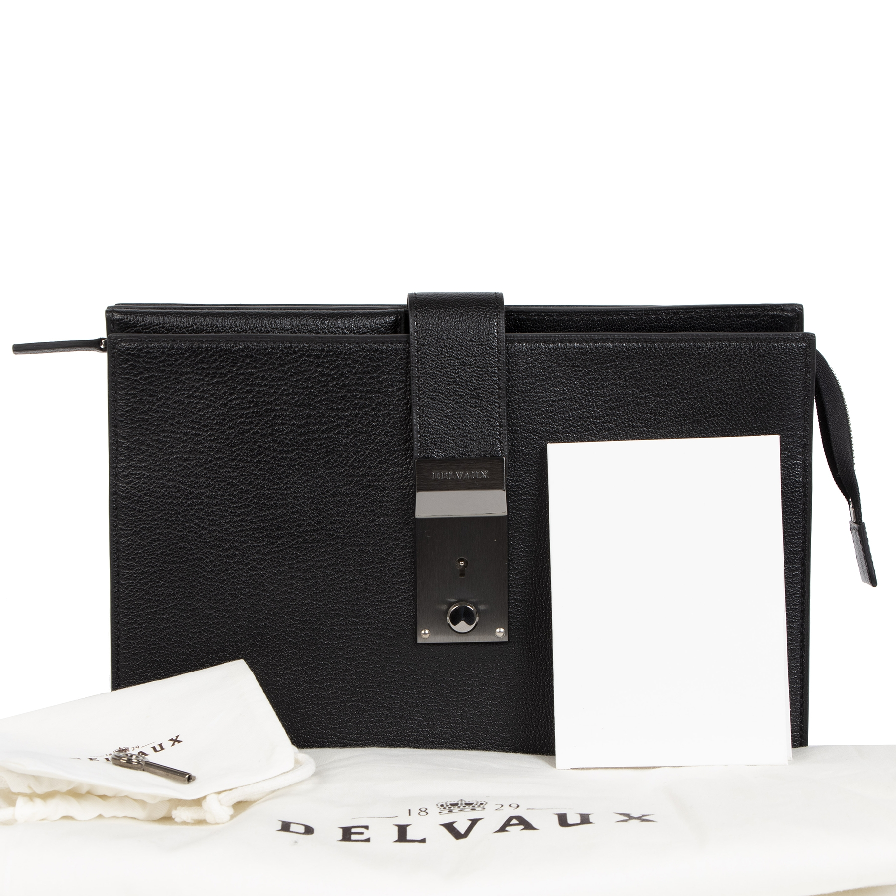 Delvaux Black Leather Pochette