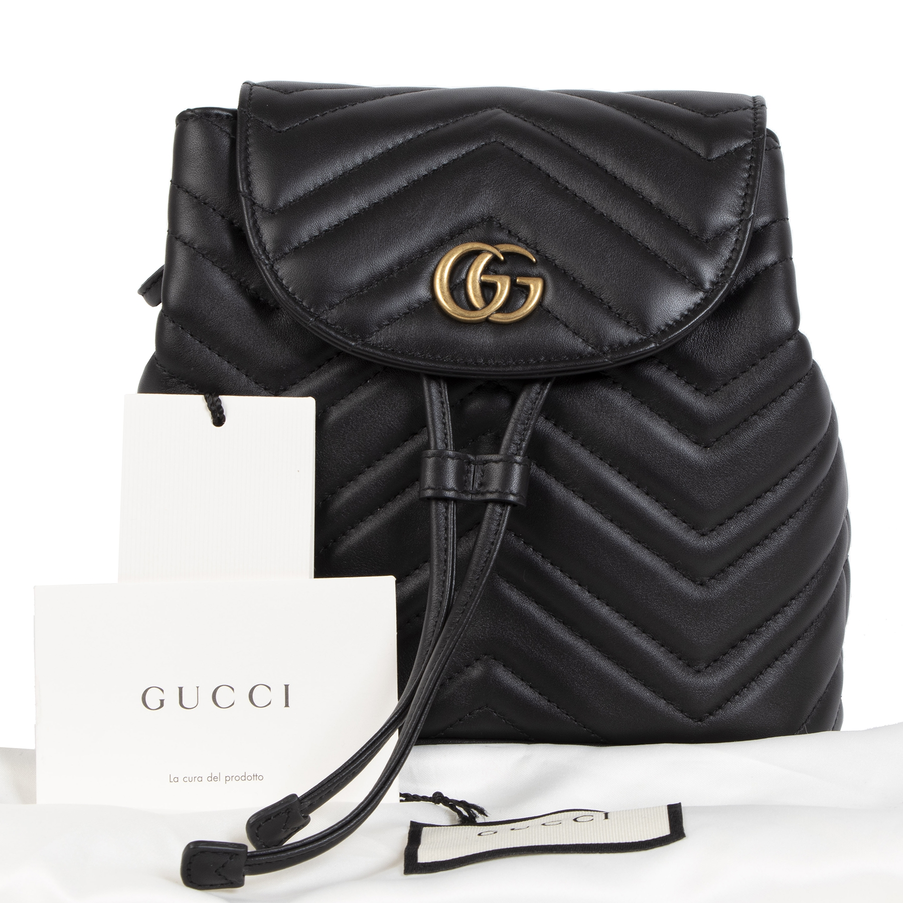 100%authentieke Gucci GG Marmont Quilted Backpack