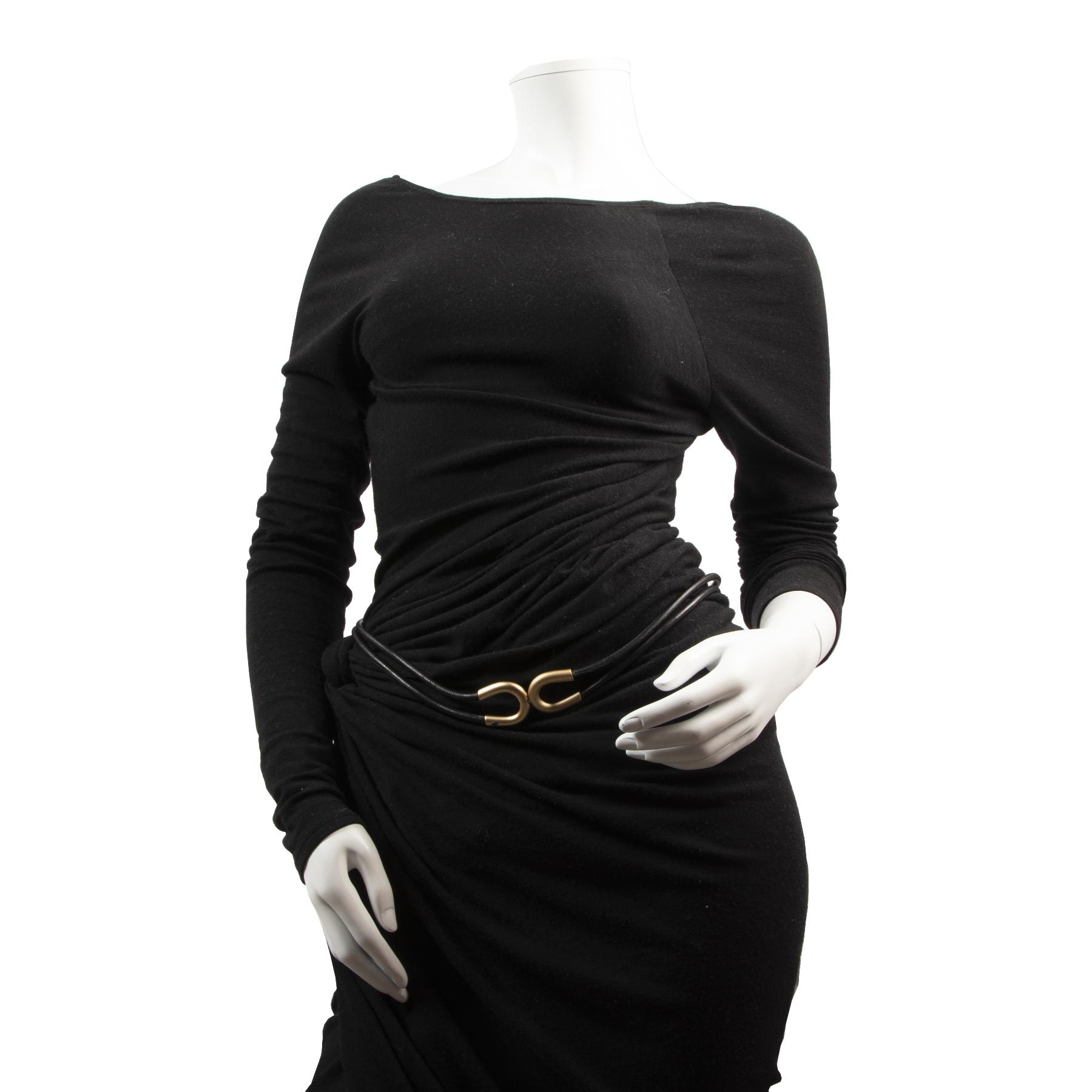 Chanel Black Leather Rope Belt secondhand designer bags online