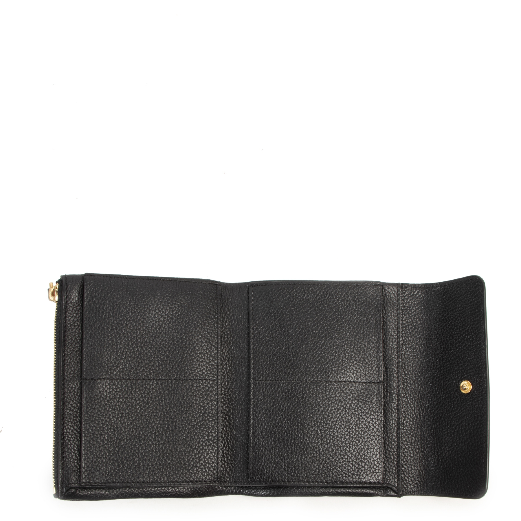 Delvaux Black Fold Wallet