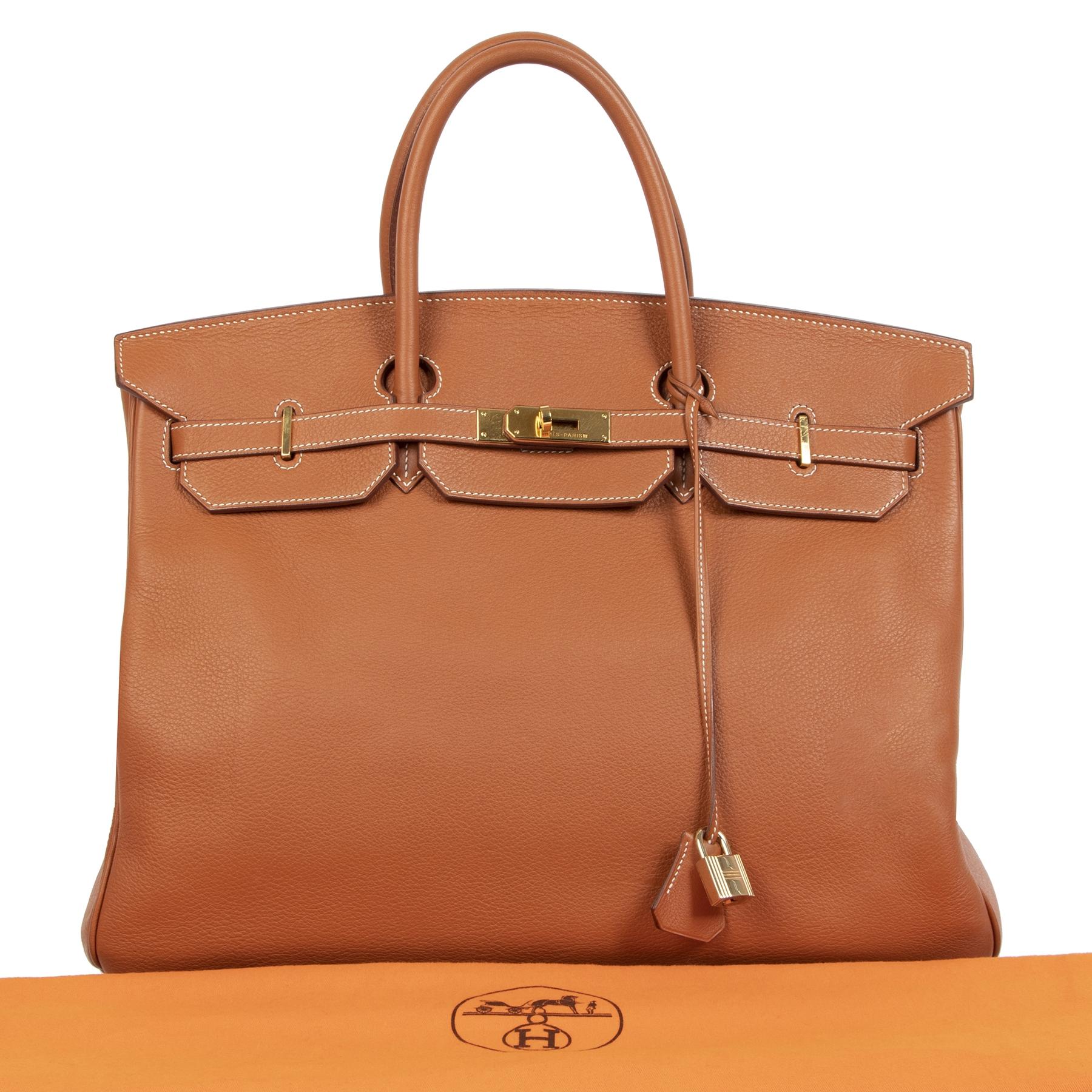 Authentieke tweedehands Hermès Birkin 40 Etrusque Clemence Taurillon GHW aan de juiste prijs veilig online bij LabelLOV webshop luxe merken winkelen Antwerpen België mode