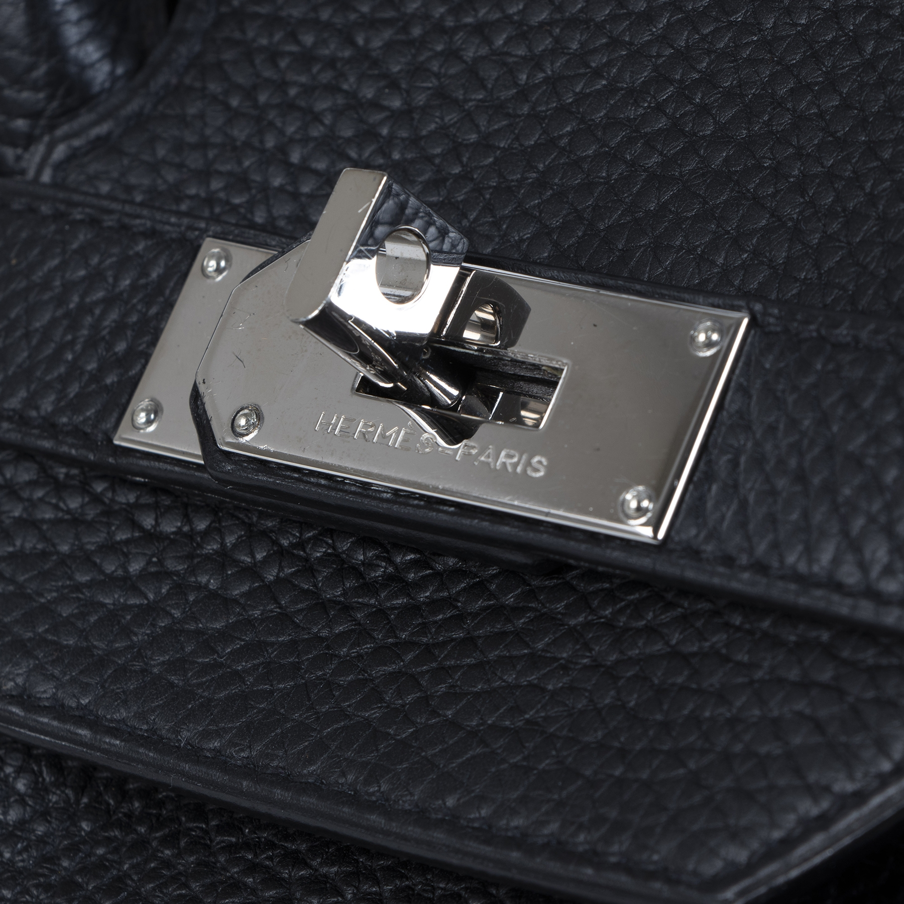 We buy and sell your authentic Hermès Birkin JPG Shoulder 42 Black Clemence PHW for the best price