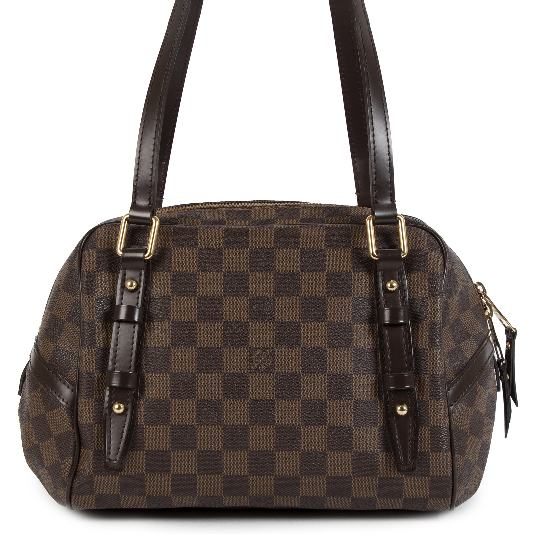 Authentic secondhand Louis Vuitton Damier Rivington PM Bag designer bags accessories pumps luxury designer vintage webshop safe secure online shopping fashion fashionista worldwide shipping
