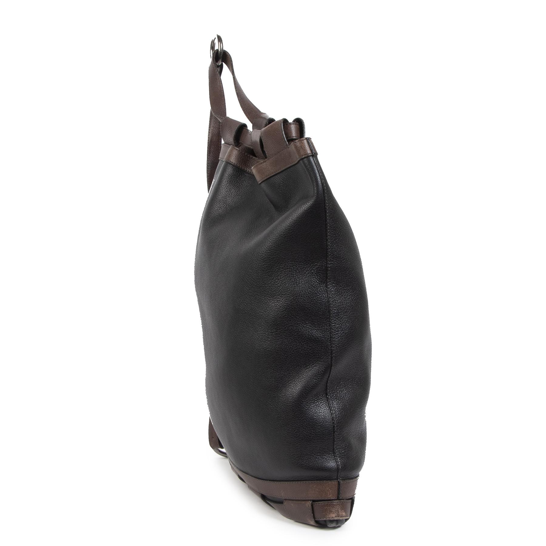 Authentieke Tweedehands Delvaux Black leather Shoulder Bag juiste prijs veilig online shoppen luxe merken webshop winkelen Antwerpen België mode fashion