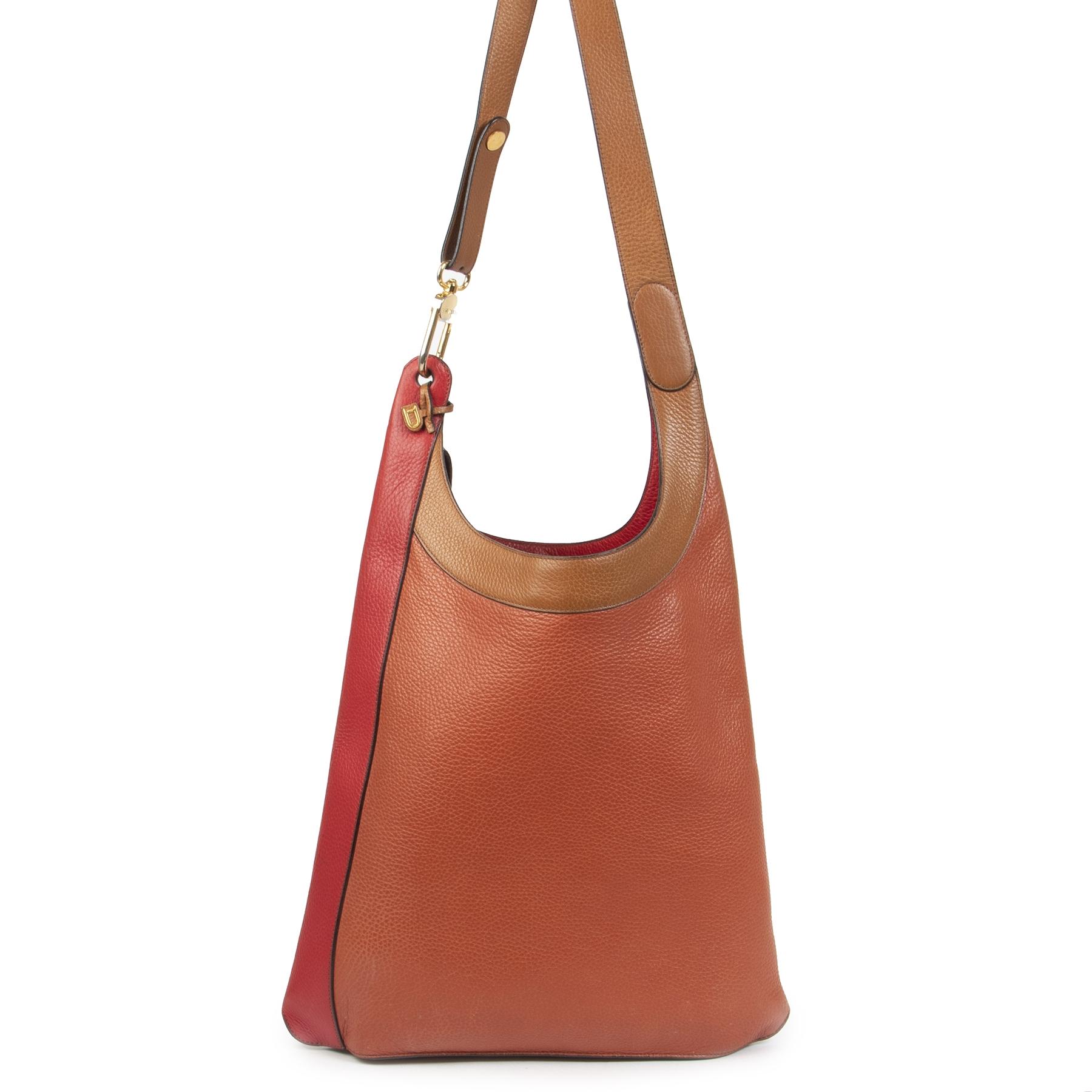 Authentieke Tweedehands Delvaux Multicolor Leather Tote Bag juiste prijs veilig online shoppen luxe merken webshop winkelen Antwerpen België mode fashion