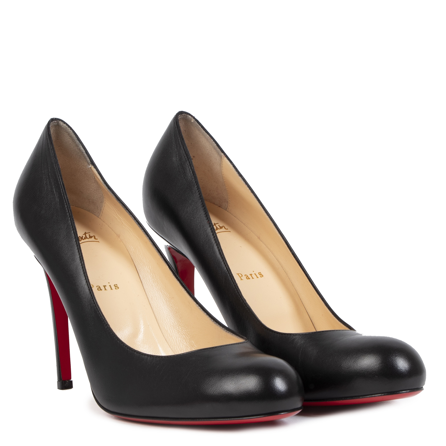 Authentieke Tweedehands Louboutin Black Decollete 868 Leather Pumps - Size 42 juiste prijs veilig online shoppen luxe merken webshop winkelen Antwerpen België mode fashion