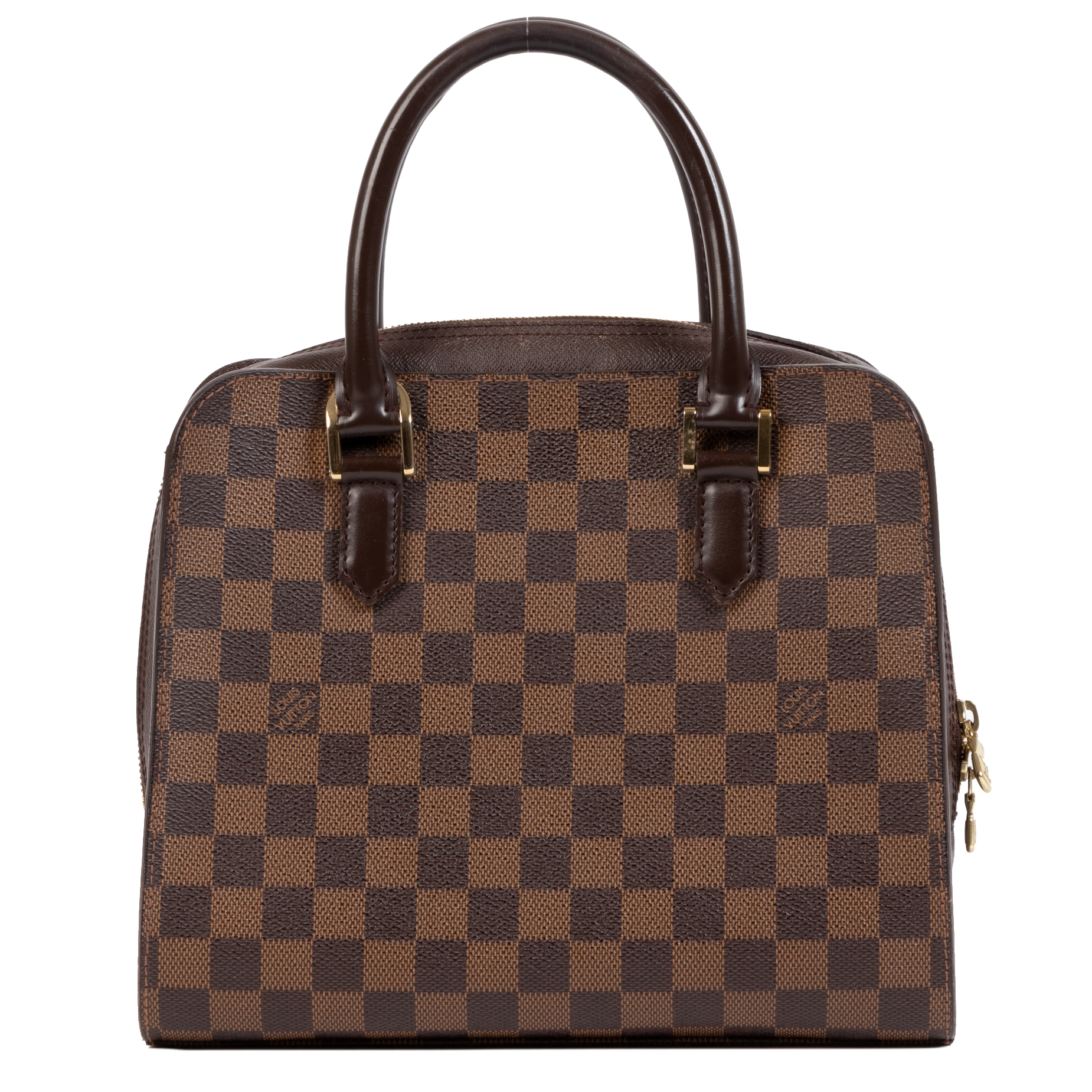 Louis Vuitton Damier Ebene Triana Top Handle Bag