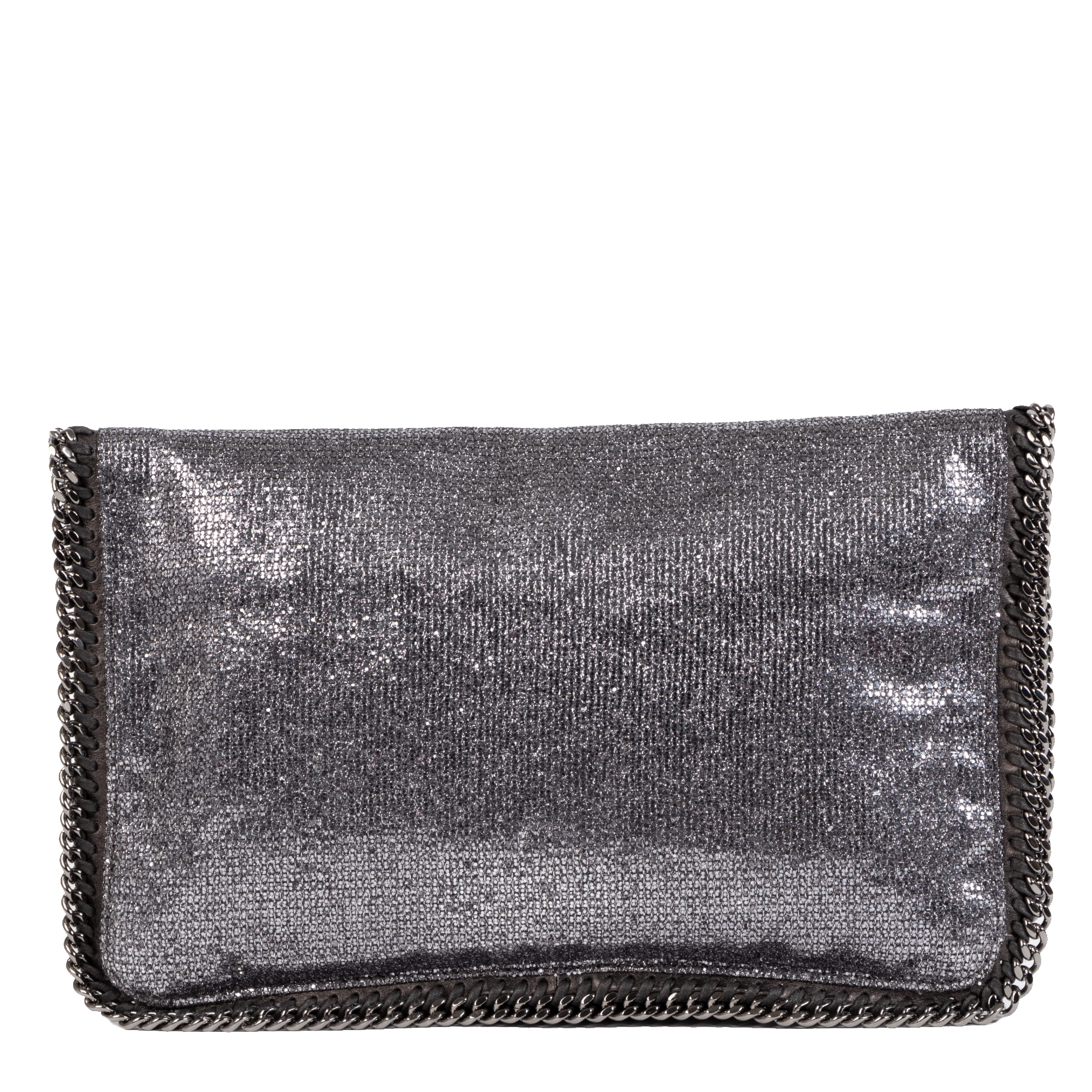 Buy and sell your authentic Stella McCartney Metallic Glitter Fold Over Falabella Clutch
