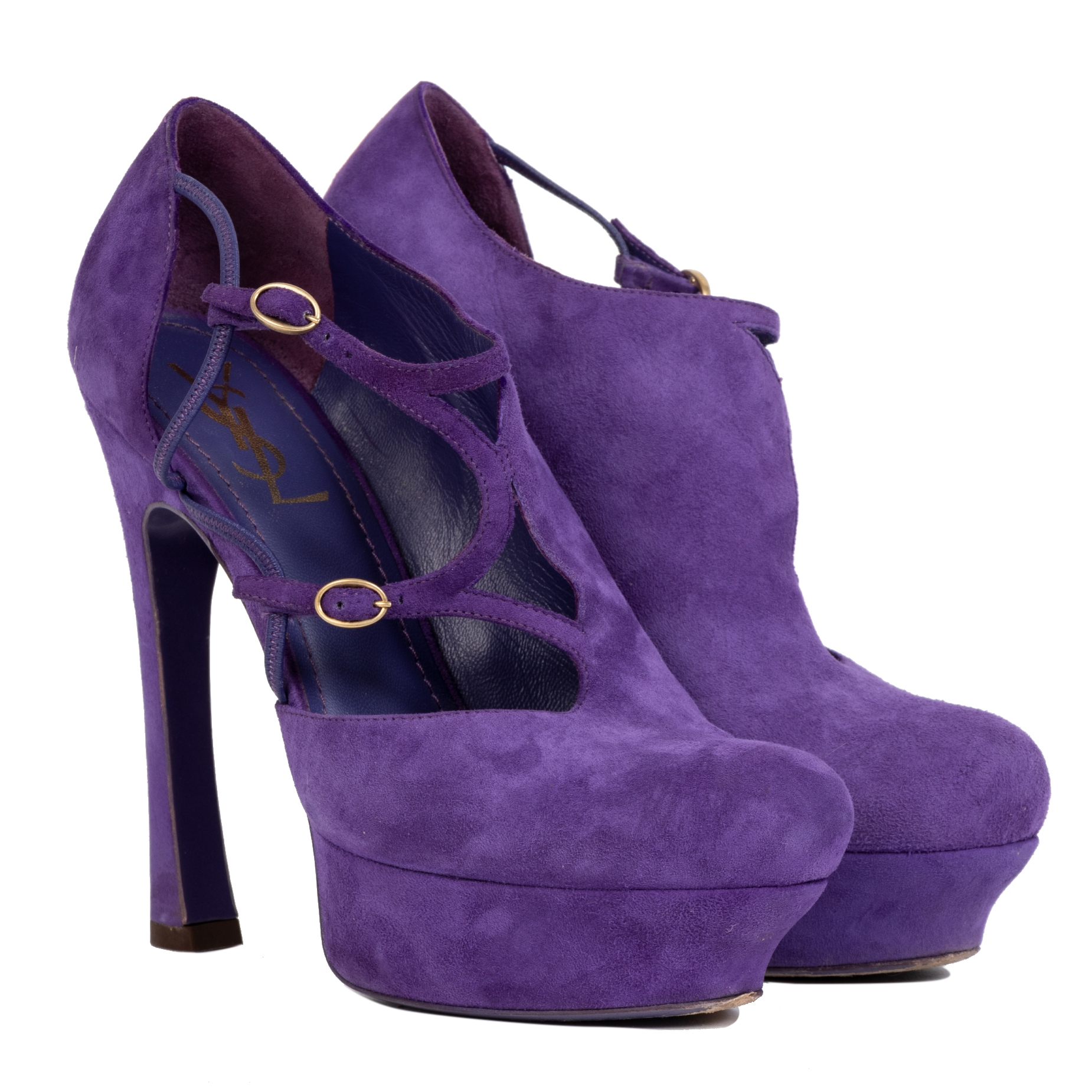 Authentic secondhand Yves Saint Laurent Purple Palais Suede Pumps - Size 39 designer bags accessories shoes pumps high heels designer brands fashion safe secure online shopping worldwide shipping