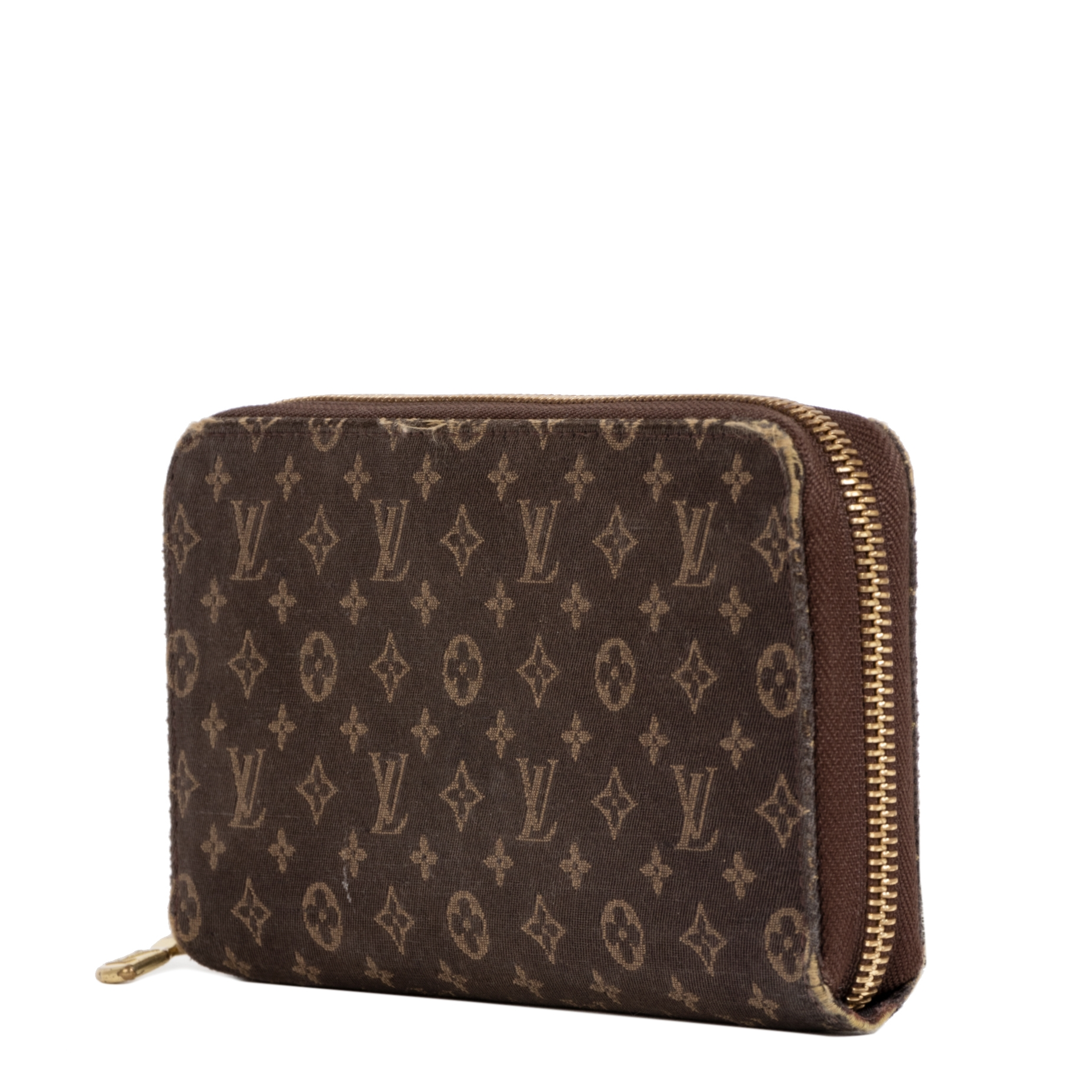 Louis Vuitton Mini Lin Brown Zippy Wallet pour le meilleur prix chez Labellov à Anvers