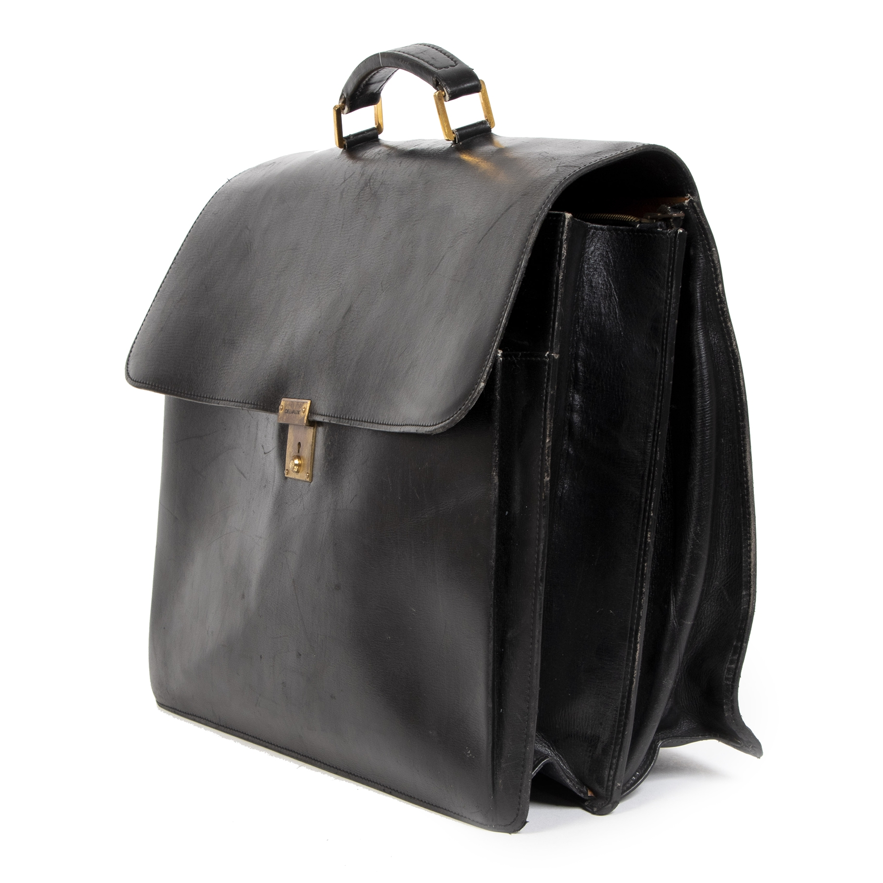 shop safe online Delvaux Vintage Black Briefcase