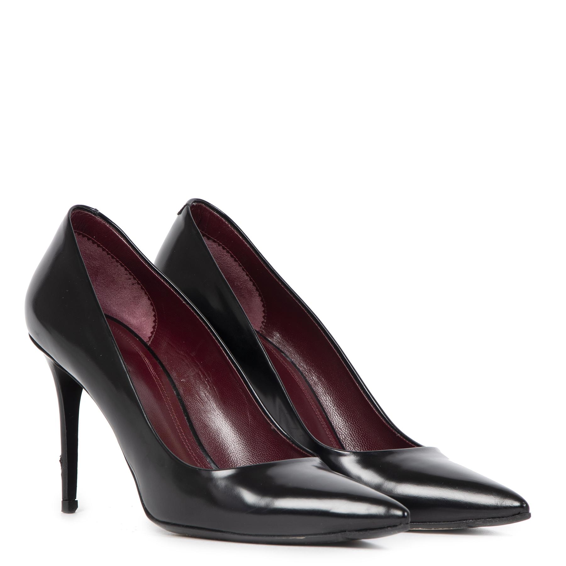Authentieke Tweedehands Céline Black Point Toe Pumps - Size 38 juiste prijs veilig online shoppen luxe merken webshop winkelen Antwerpen België mode fashion