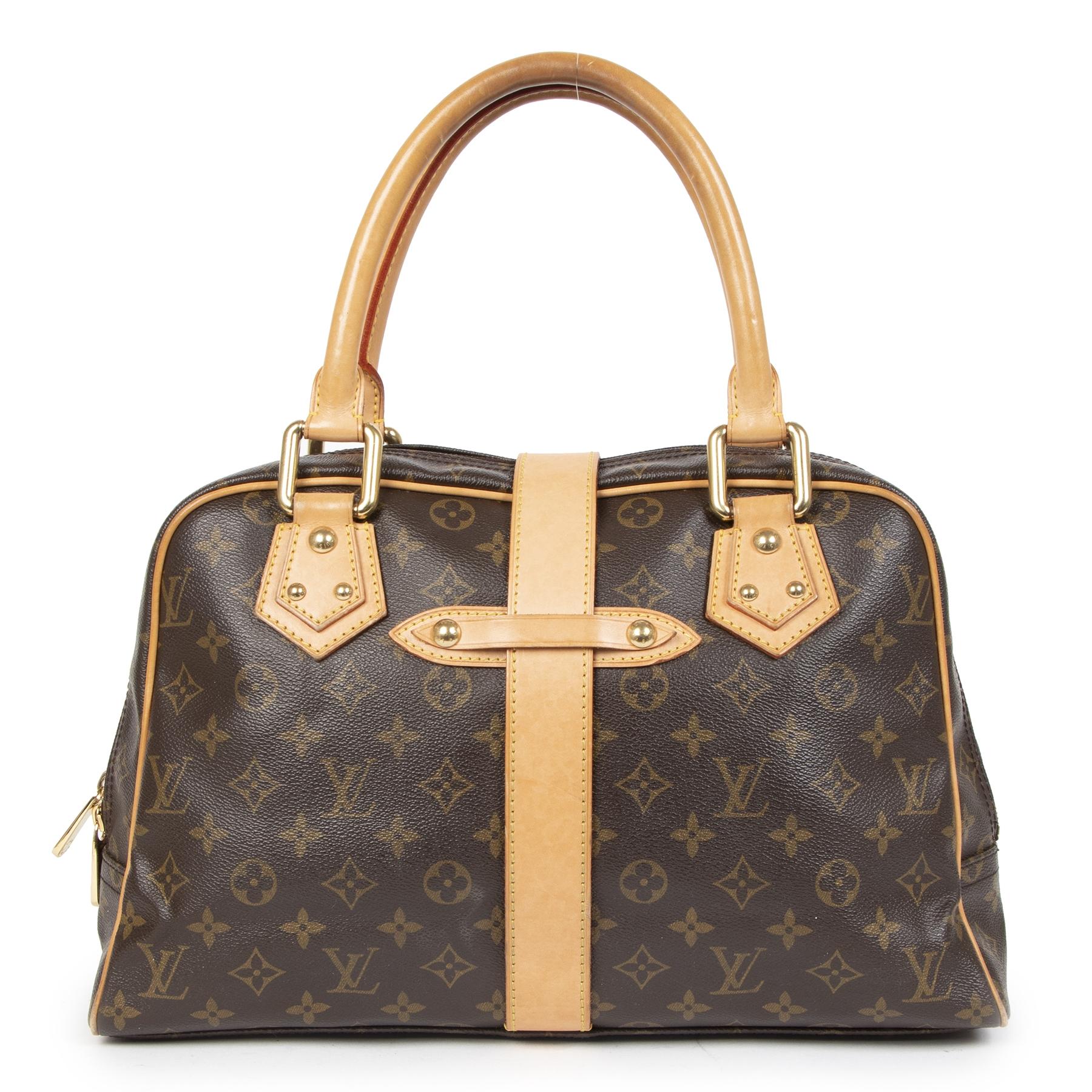 Authentieke Tweedehands Louis Vuitton Monogram Manhattan Shoulder Bag  juiste prijs veilig online shoppen luxe merken webshop winkelen Antwerpen België mode fashion