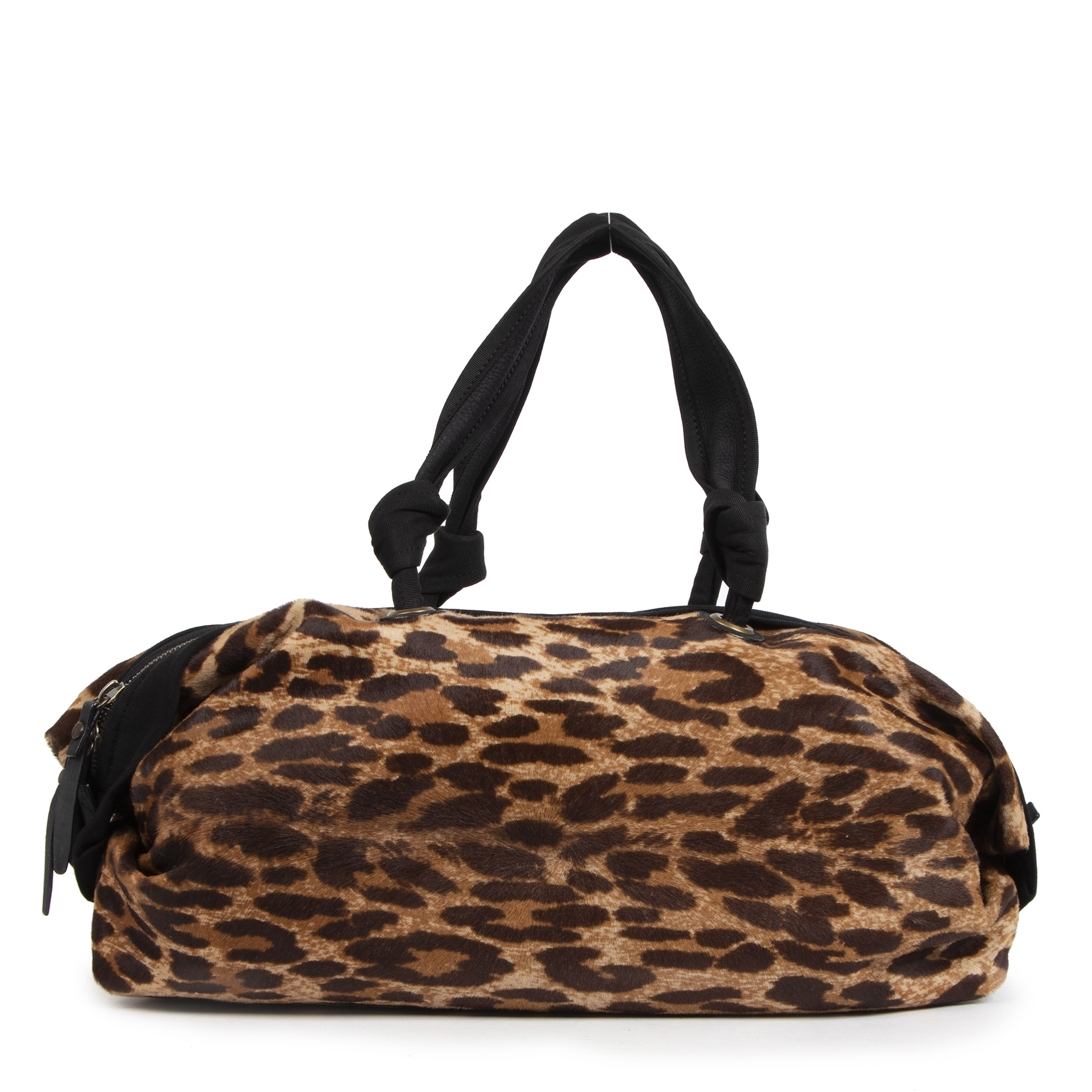 Authentic secondhand Lanvin Leopard Bowling Bag designer bags designer brands luxury vintage webshop safe secure online shopping worldwide shipping