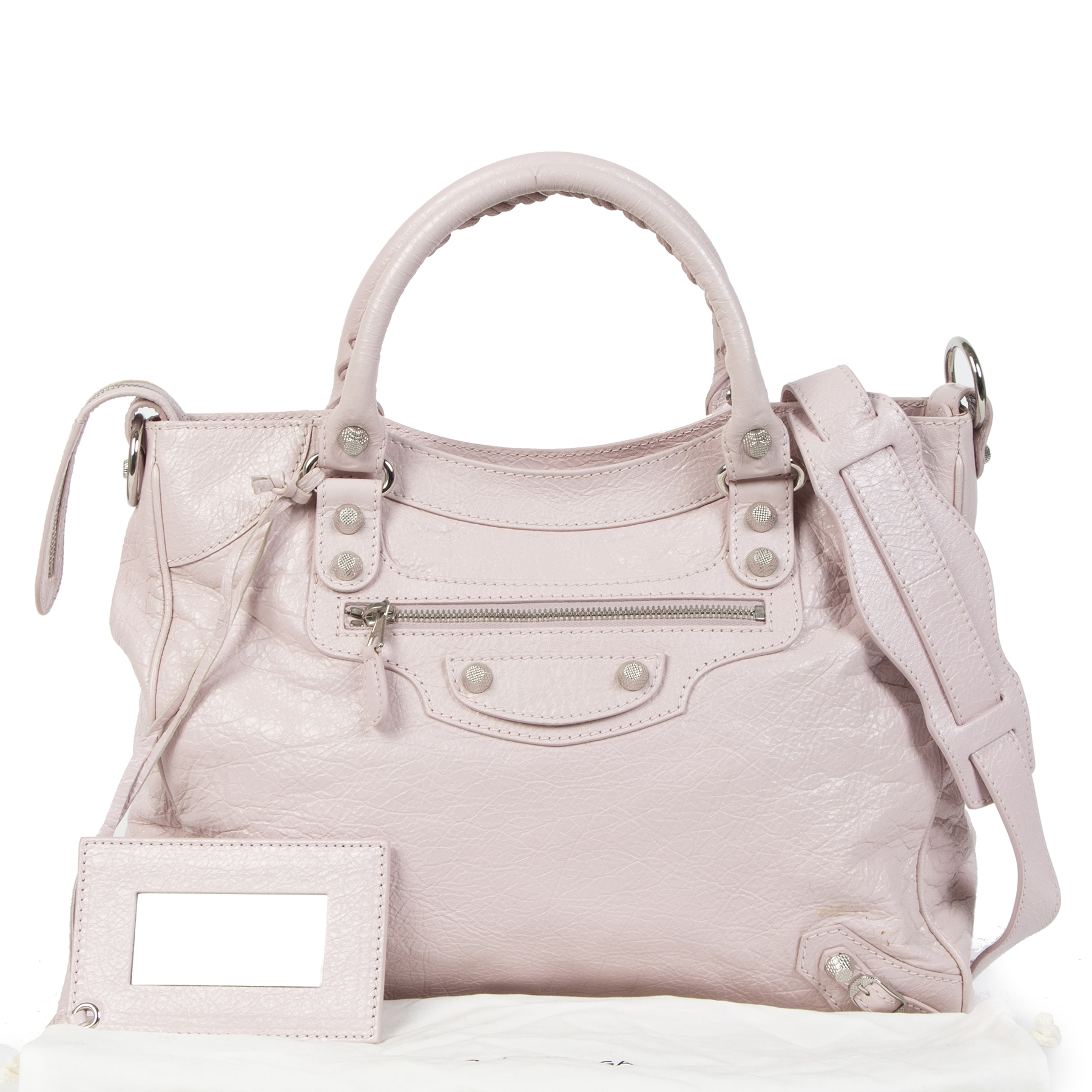 Balenciaga Light Pink Velo Top Handle Bag
