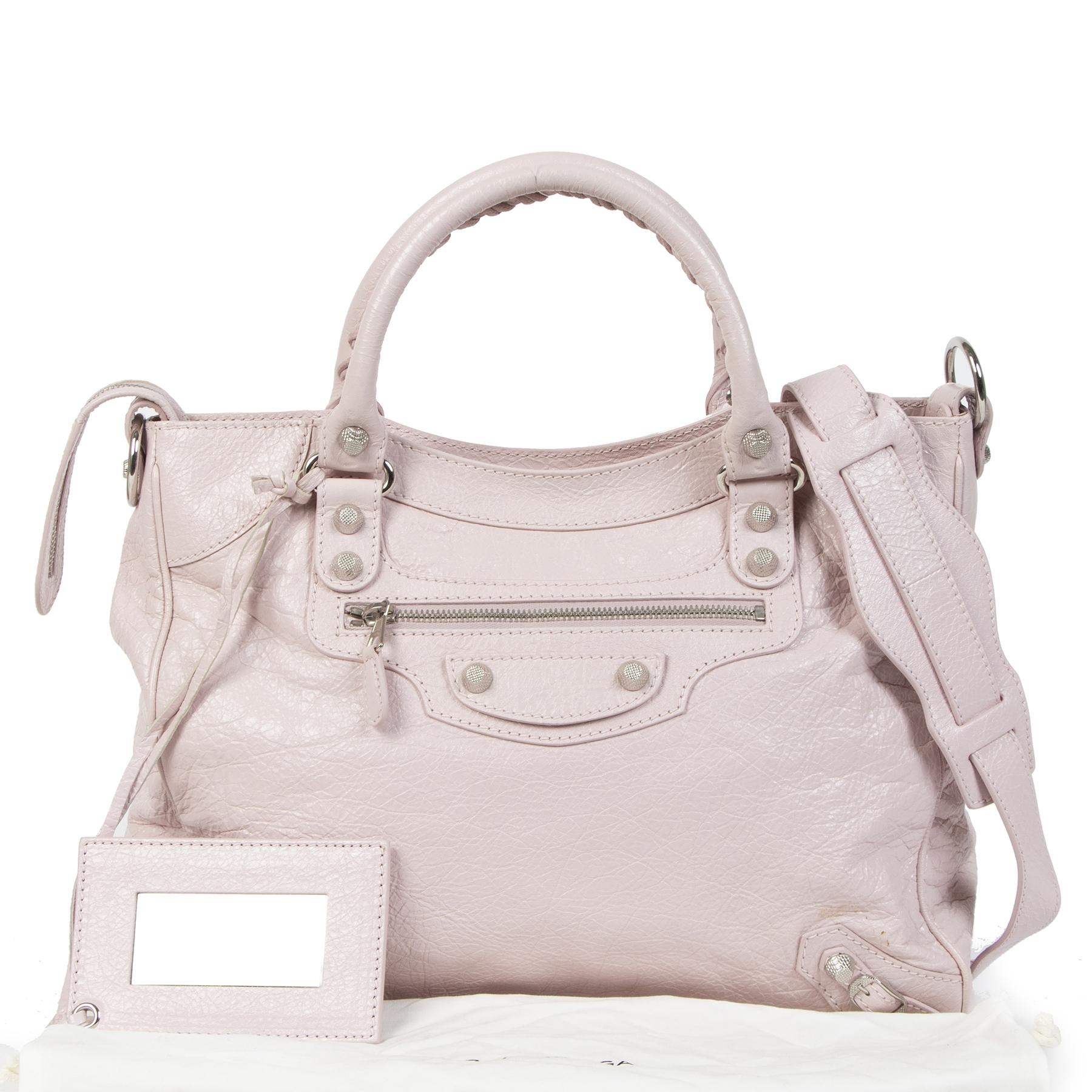 Balenciaga Light Pink Velo Top Handle Bag