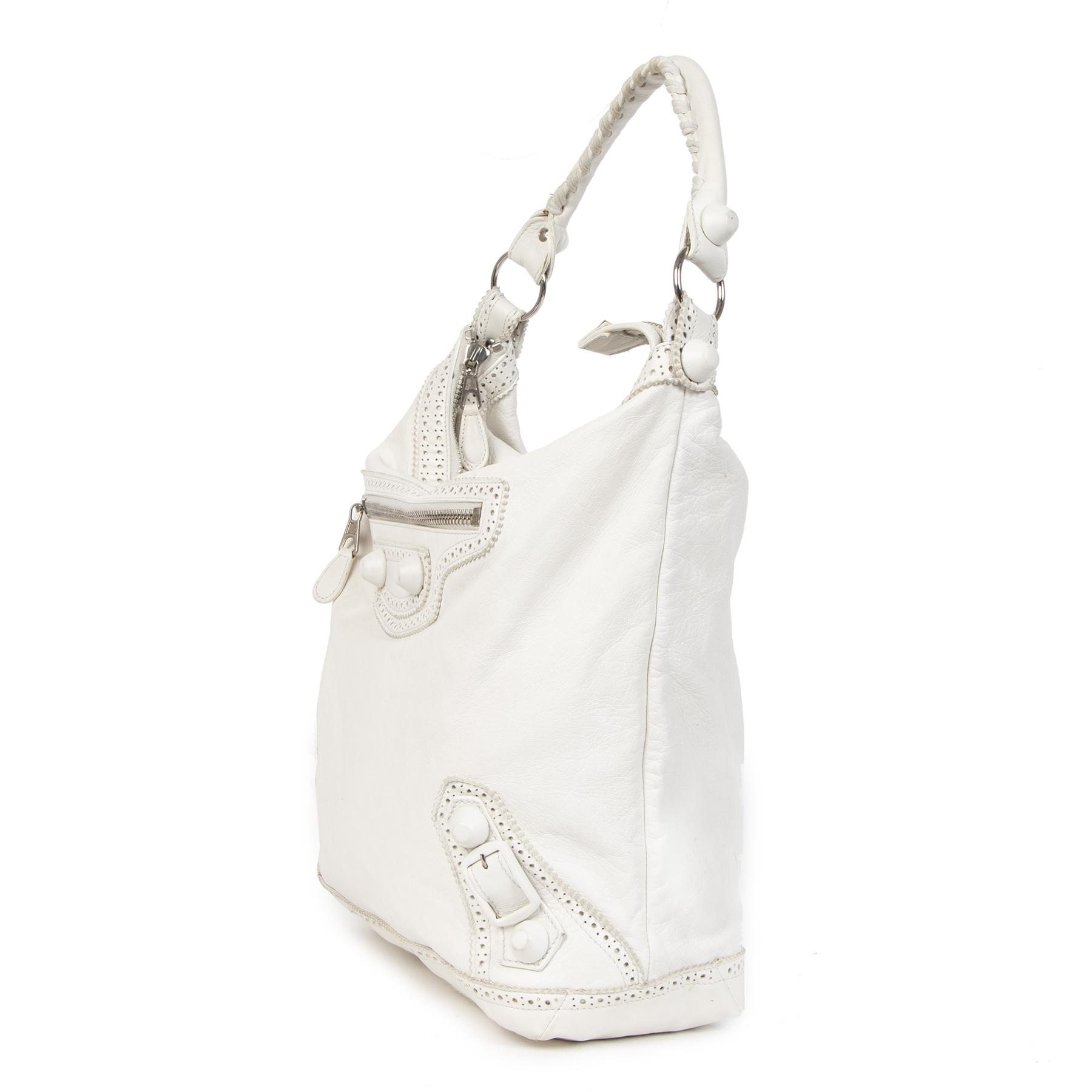 Koop en verkoop uw authentieke designer Balenciaga White Giant Day Bag online