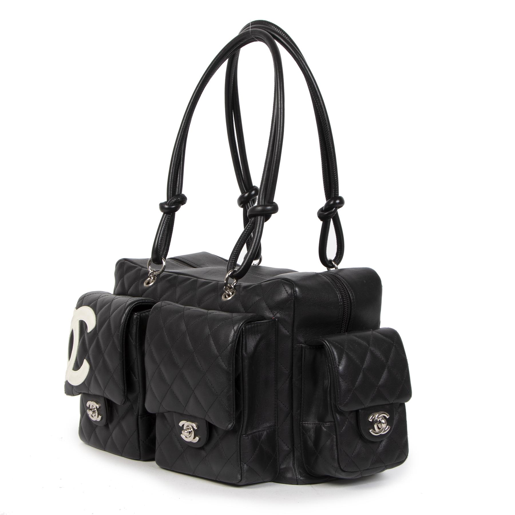 Koop Authentieke tweedehands Chanel Cambon Reportage Bag Black aan de juiste prijs online is alle veiligheid LabelLOV luxe merken Antwepen België