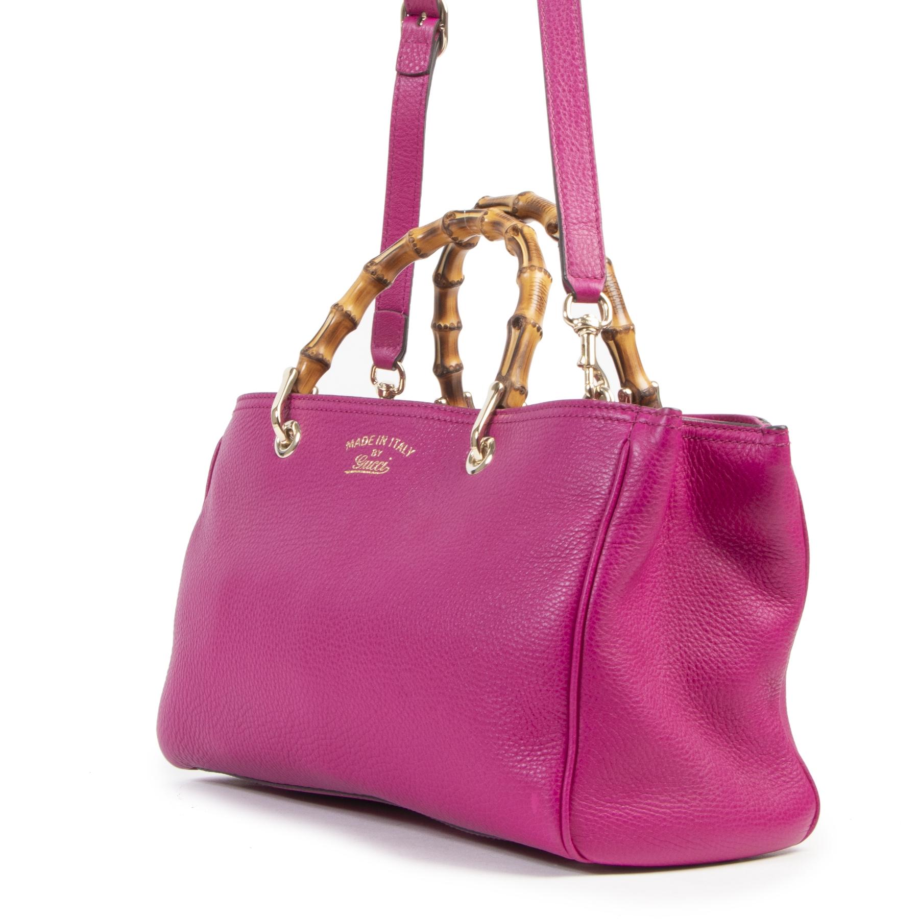 Gucci Fuchsia Bamboo Top Handle Bag