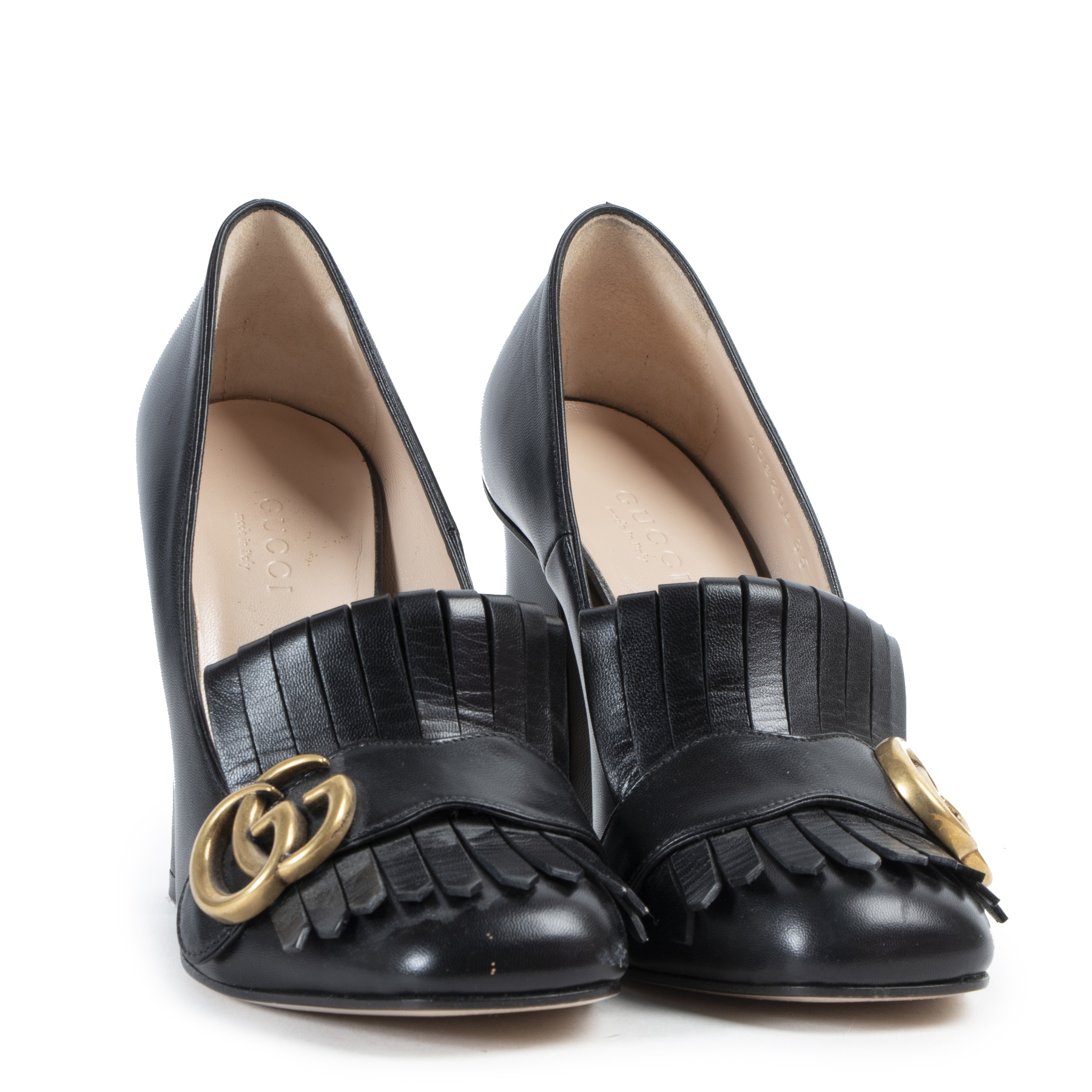 Gucci Marmont Black Leather Pumps - size 35