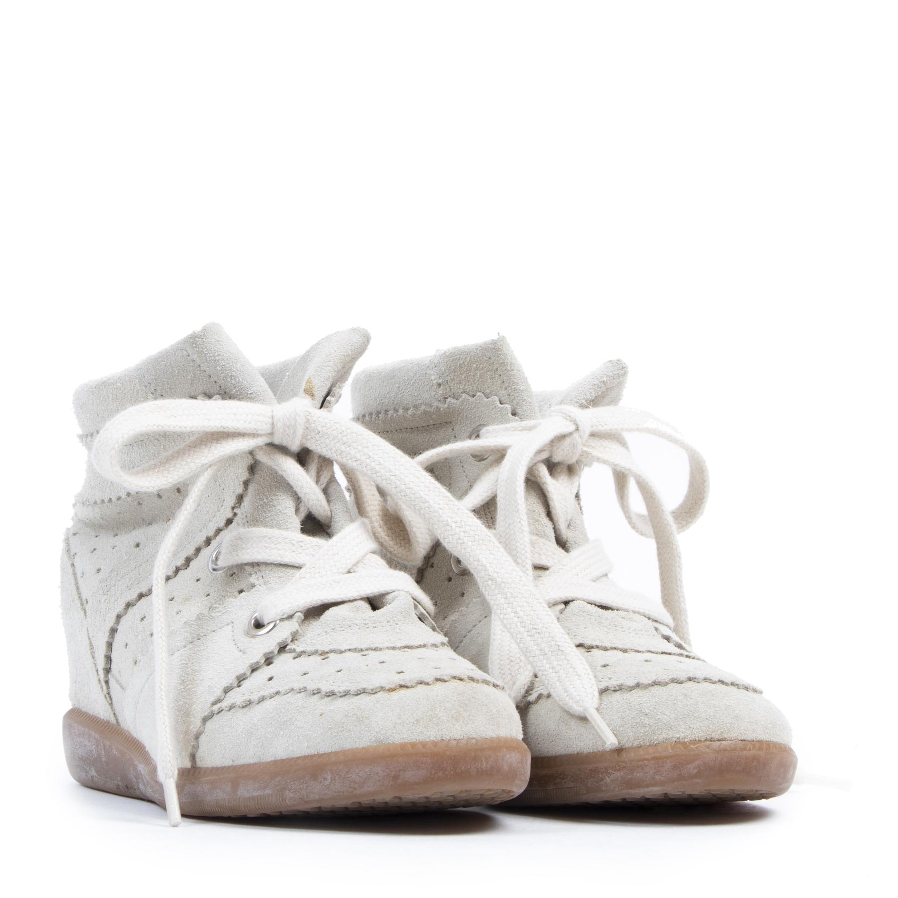 Authentieke tweedehands vintage Isabel Marant Bobby Wedge Sneakers - Size 36 koop online webshop LabelLOV