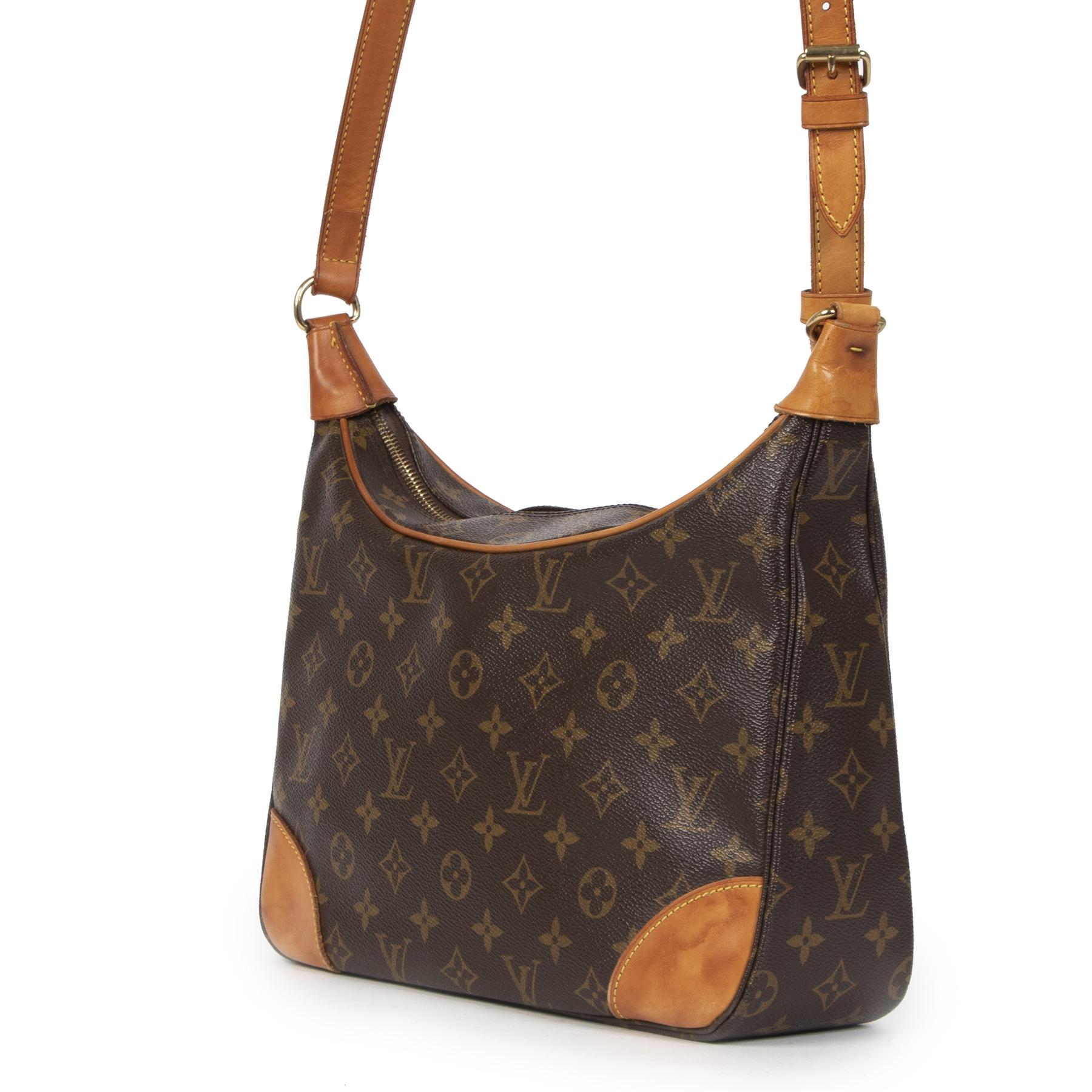 Authentieke Tweedehands Louis Vuitton Monogram Boulogne 30 Bag juiste prijs veilig online shoppen luxe merken webshop winkelen Antwerpen België mode fashion