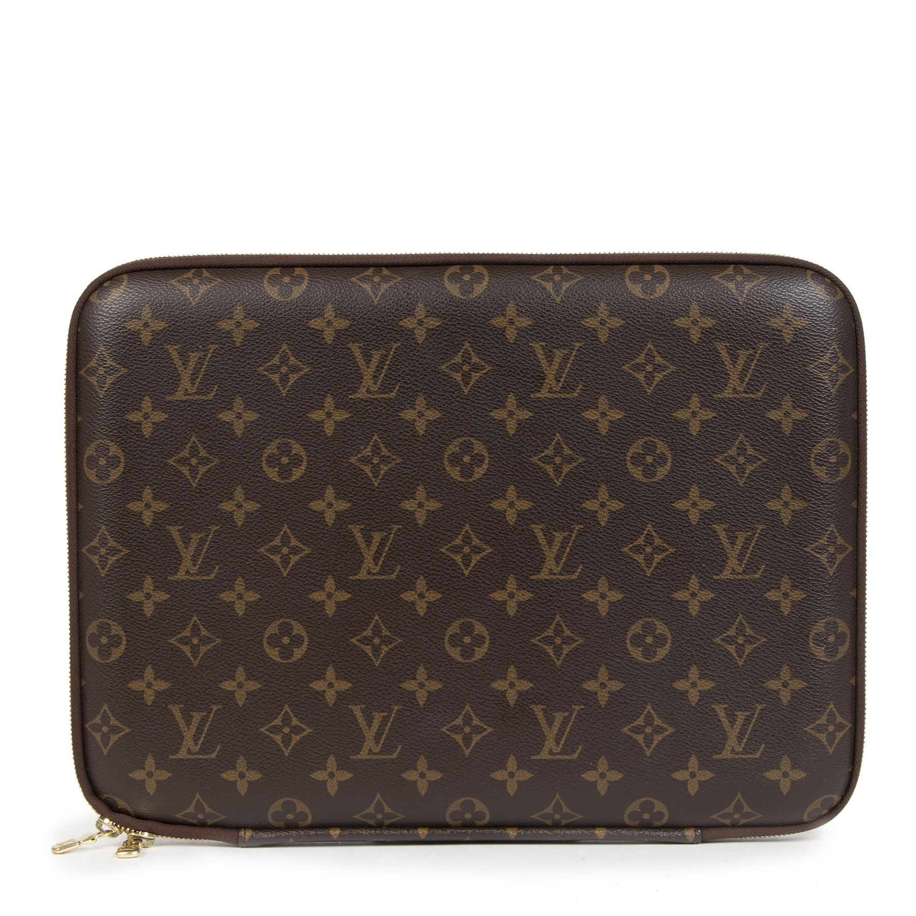 Authentic secondhand Louis Vuitton Monogram 13inch Laptop Sleeve designer accessories designer brands fashion luxury vintage webshop safe secure online shopping worldwide shipping delivery