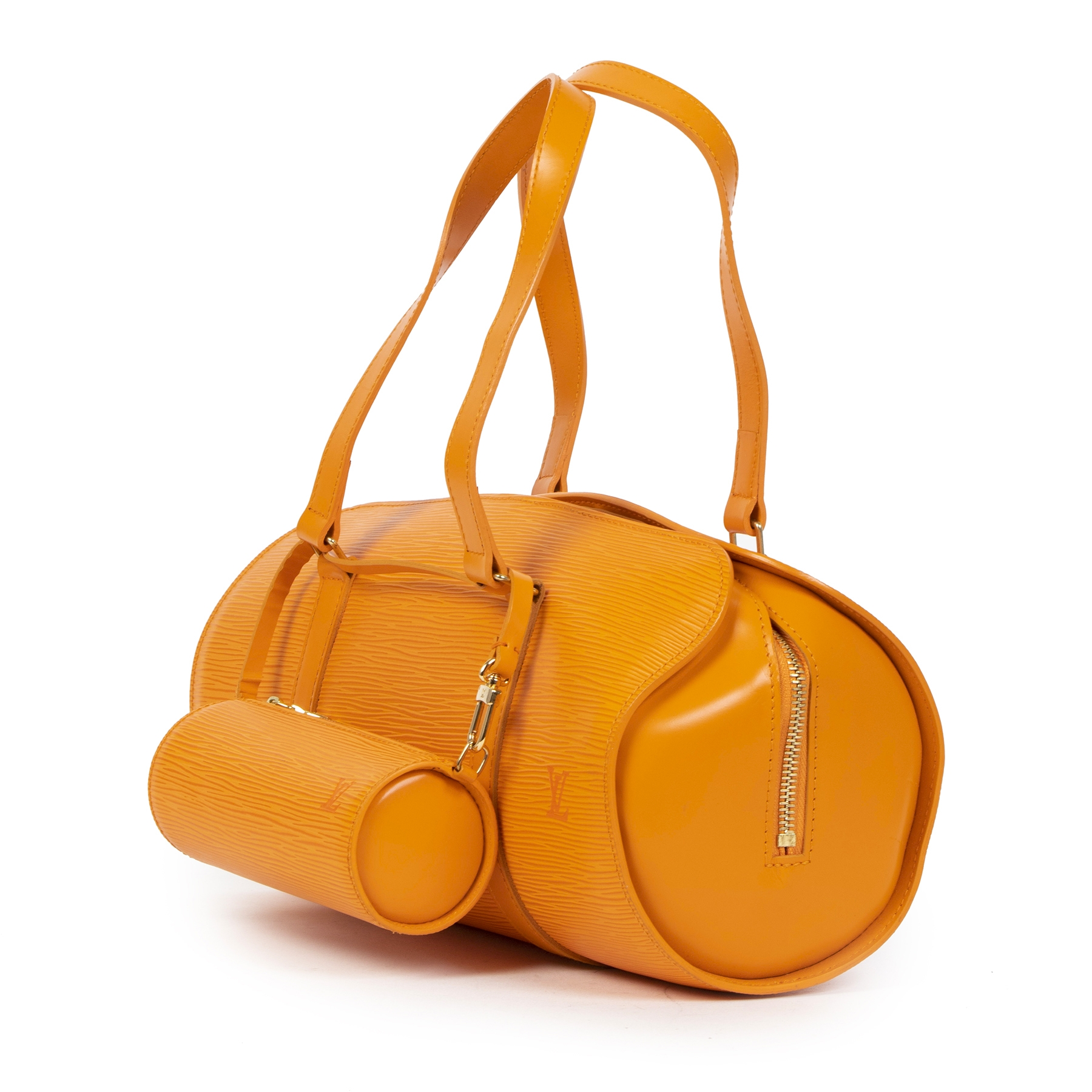 Louis Vuitton Orange Epi Leather Soufflot Bag