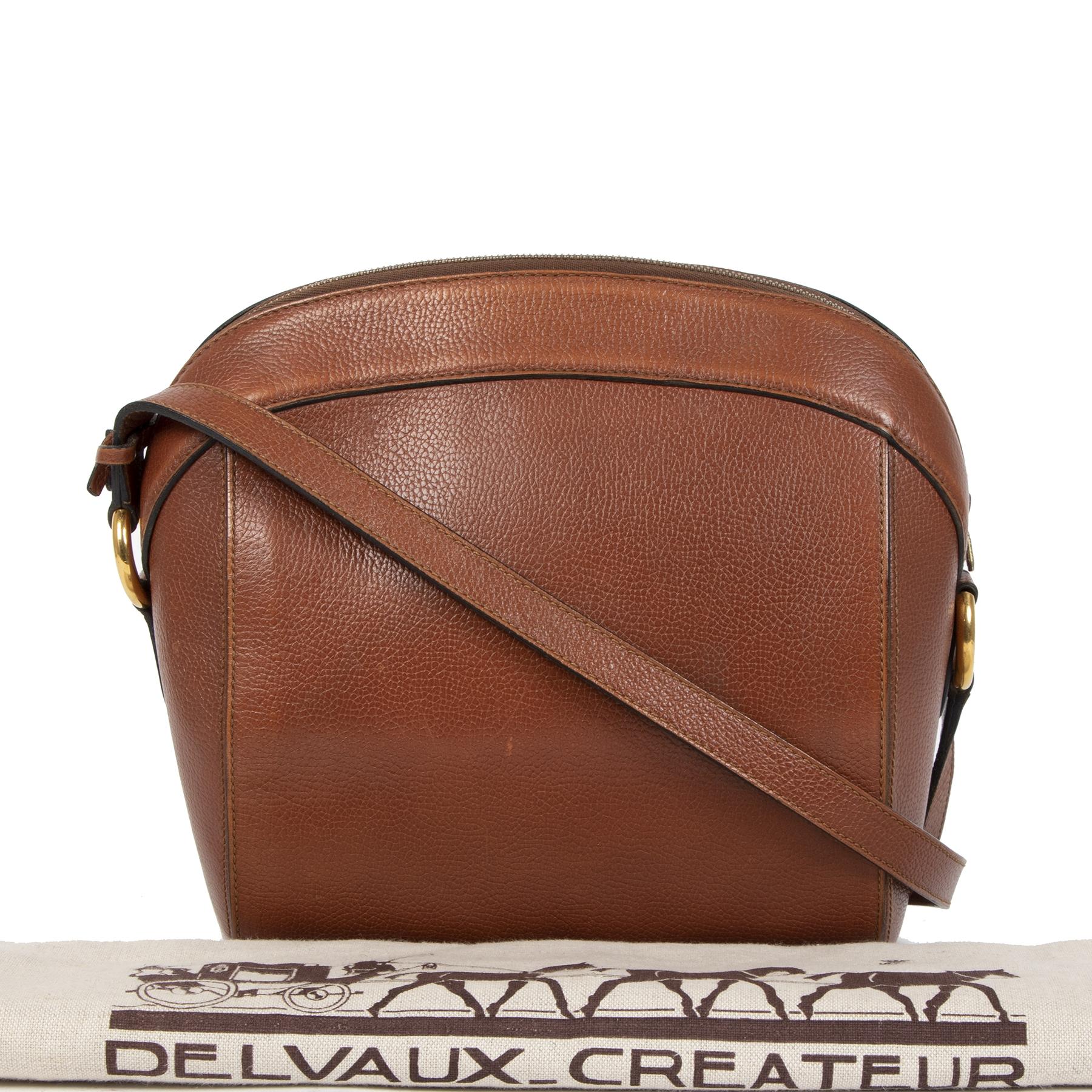 Delvaux Cognac Crossbody Shoulder Bag kopen en verkopen aan de beste prijs bij Labellov