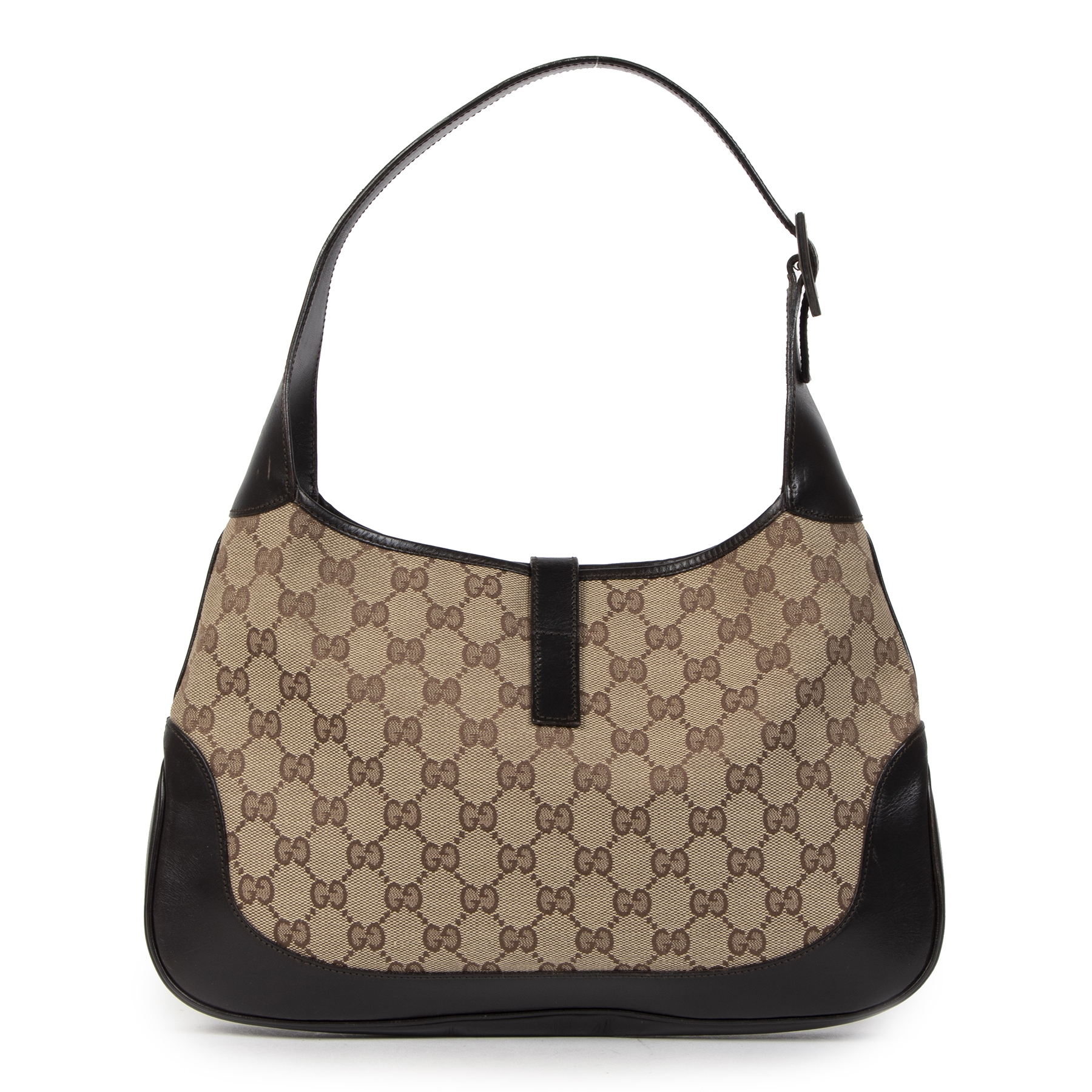 Gucci GG Canvas Jackie O Small Shoulder Bag