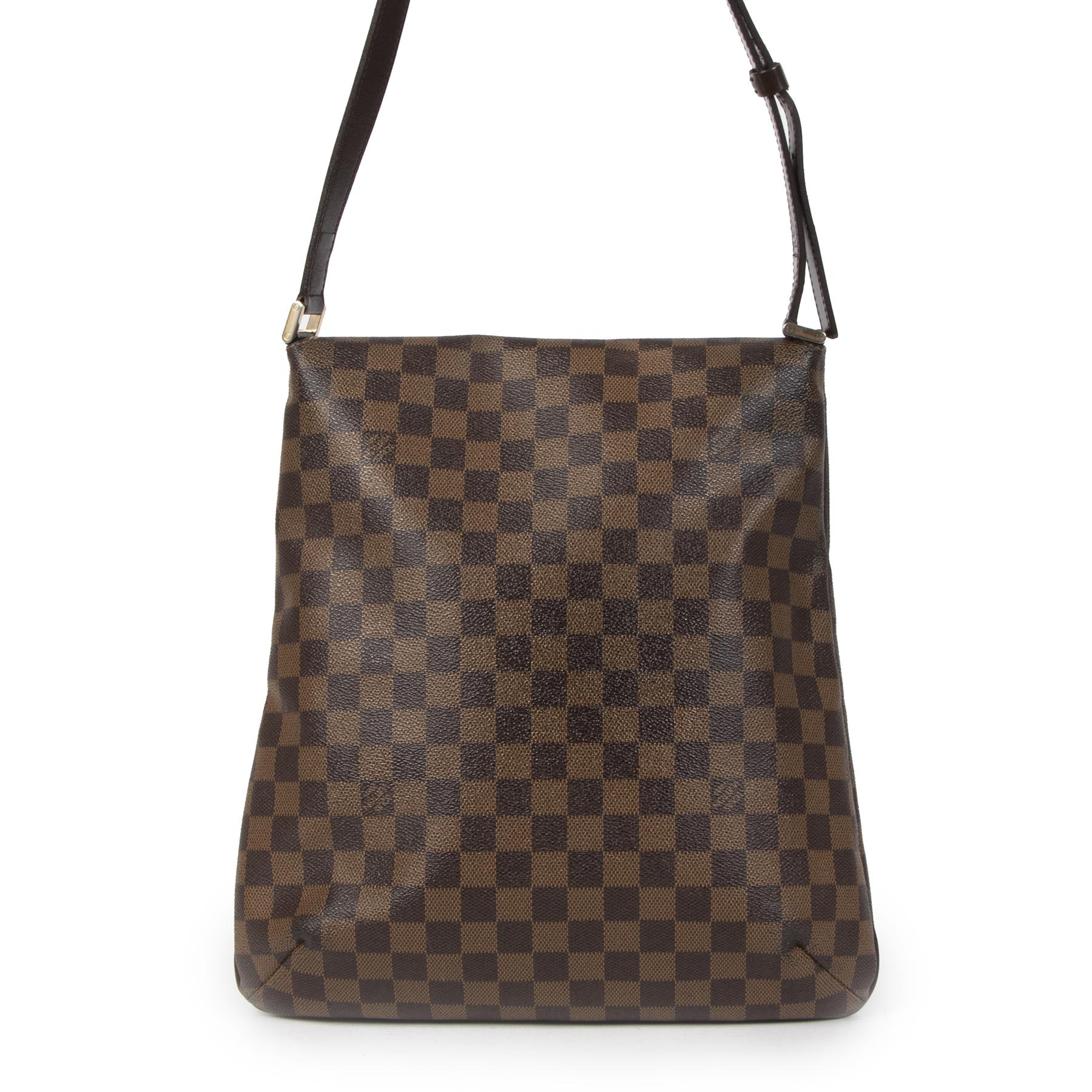 Koop en verkoop uw authentieke designer Louis Vuitton Damier Ebene Musette Salsa Bag