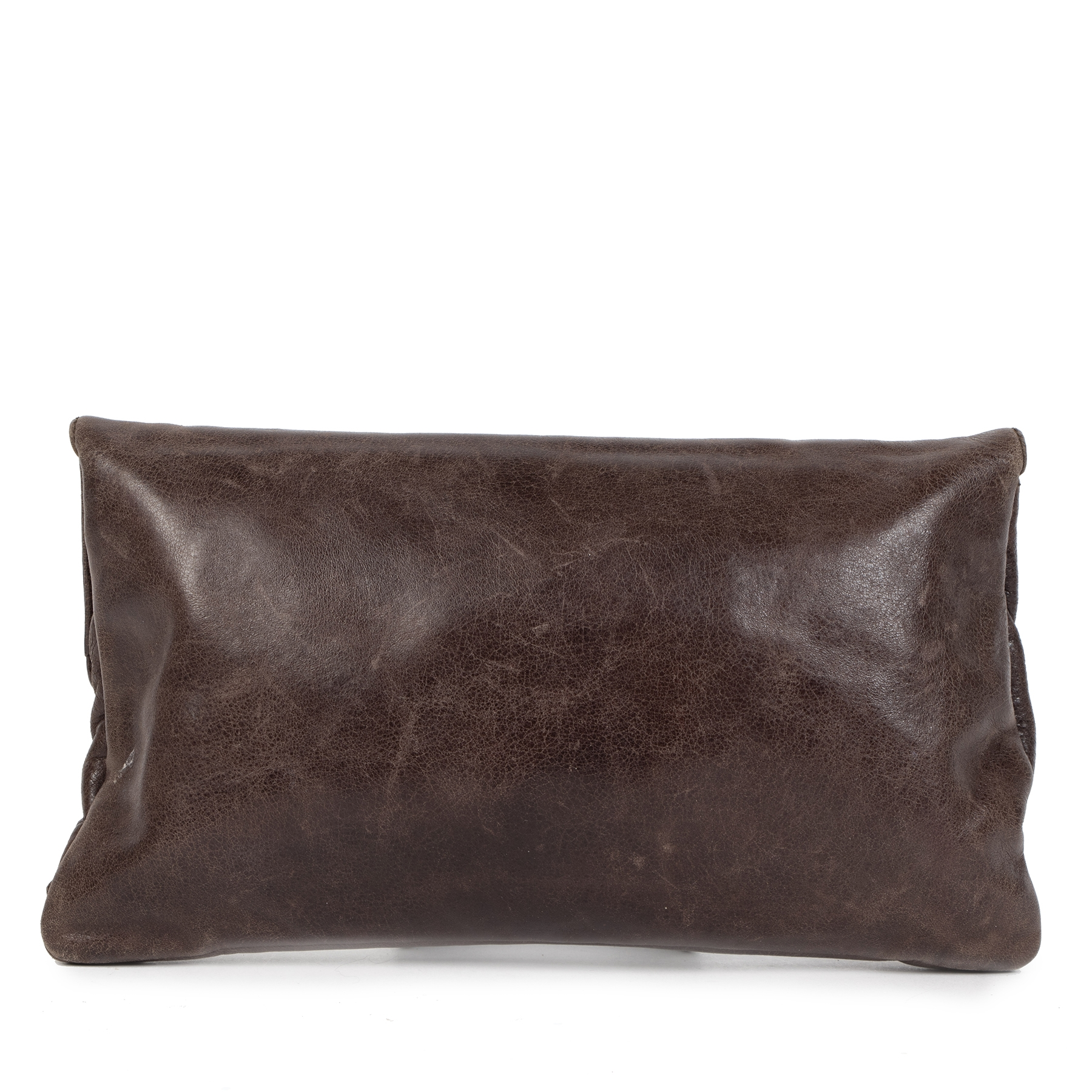 Authentic secondhand Balenciaga Giant 12 Envelope Clutch Brown designer bags designer brands fashion luxury vintage webshop Antwerp Belgium safe secure online shopping worldwide shipping delivery