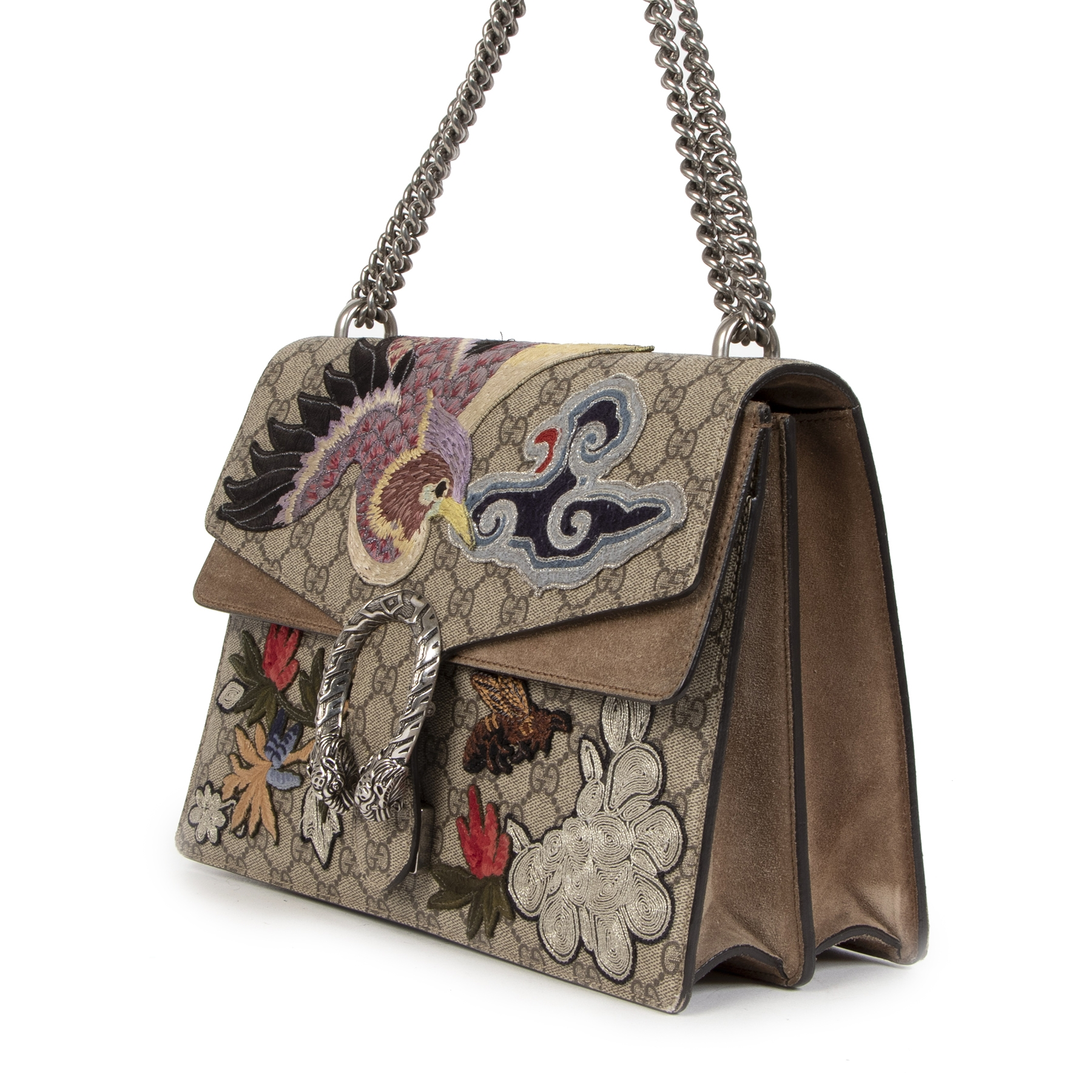 Koop en verkoop uw authentieke Gucci Medium Dionysus Bird Embroidered Shoulder Bag