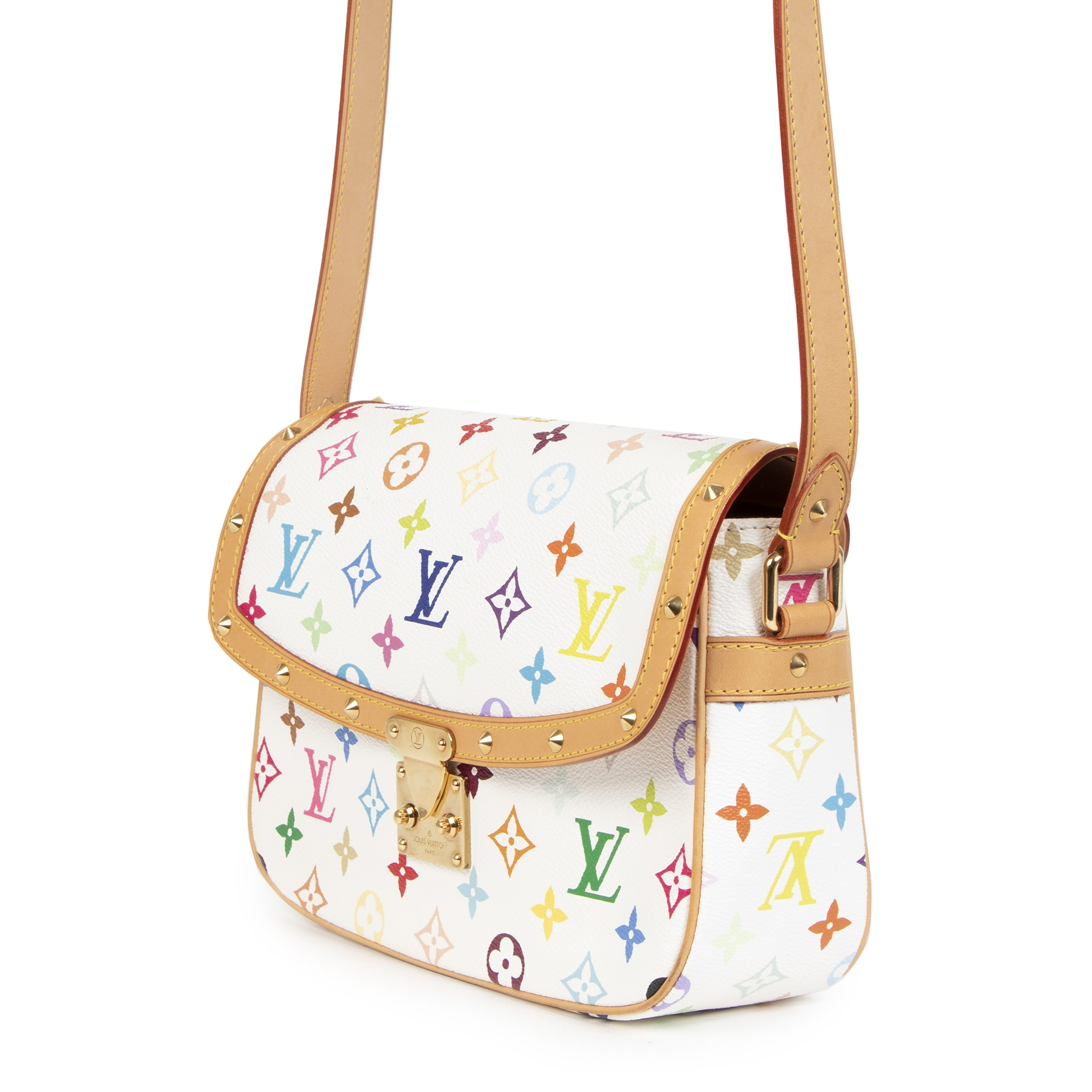 Buy authentic secondhand Louis Vuitton Multicolor Monogram White Sologne Cross Body Bag at the right price at LabelLOV vintage webshop. Safe and secure online shopping. Koop authentieke tweedehands Louis Vuitton Multicolor Monogram White Sologne Cross Bod