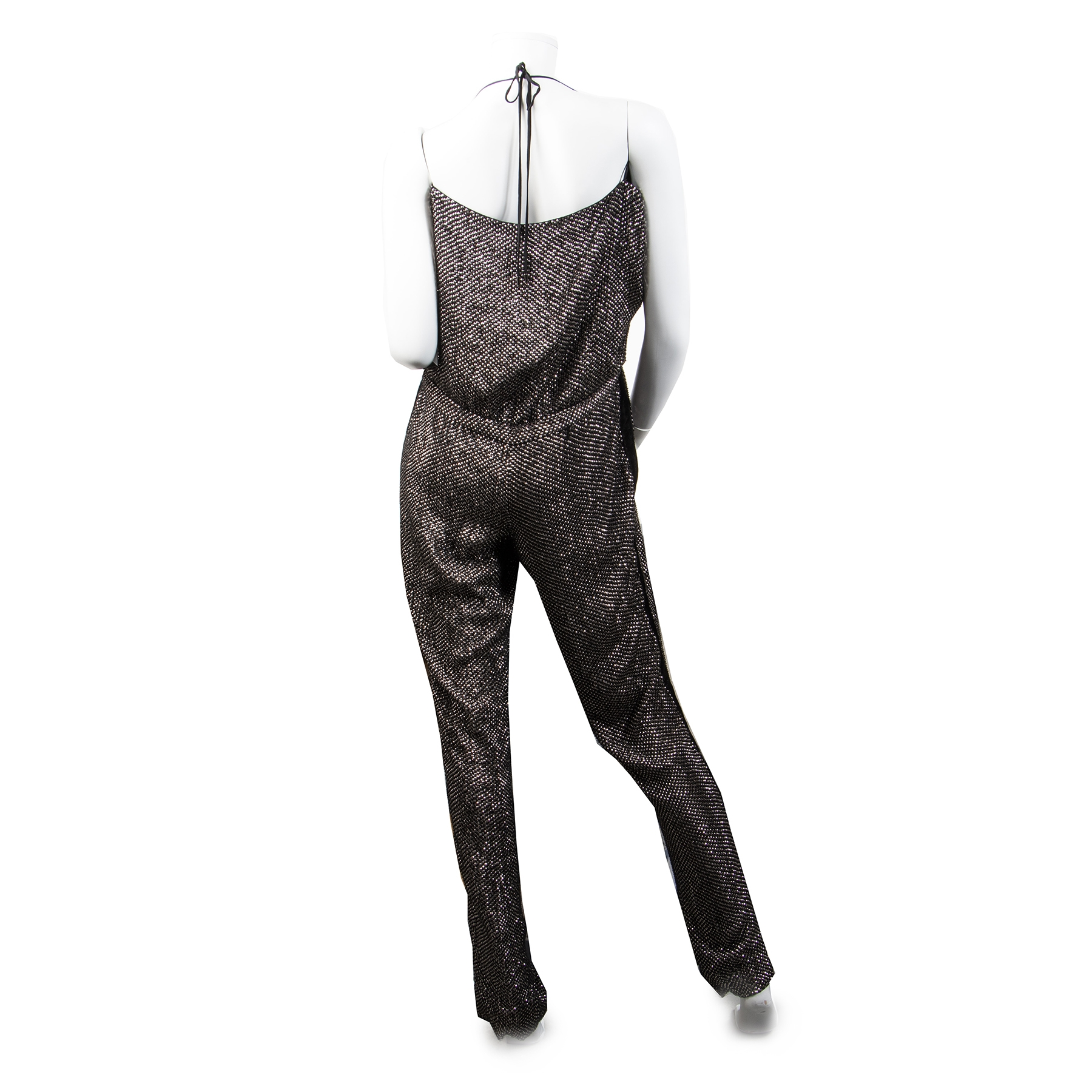 Buy Secondhand Gucci Black Crystal-Embellished Jumpsuit - Size 42 at the right price safe and secure online LabelLOV luxury brand webshop Antwerp Belgium