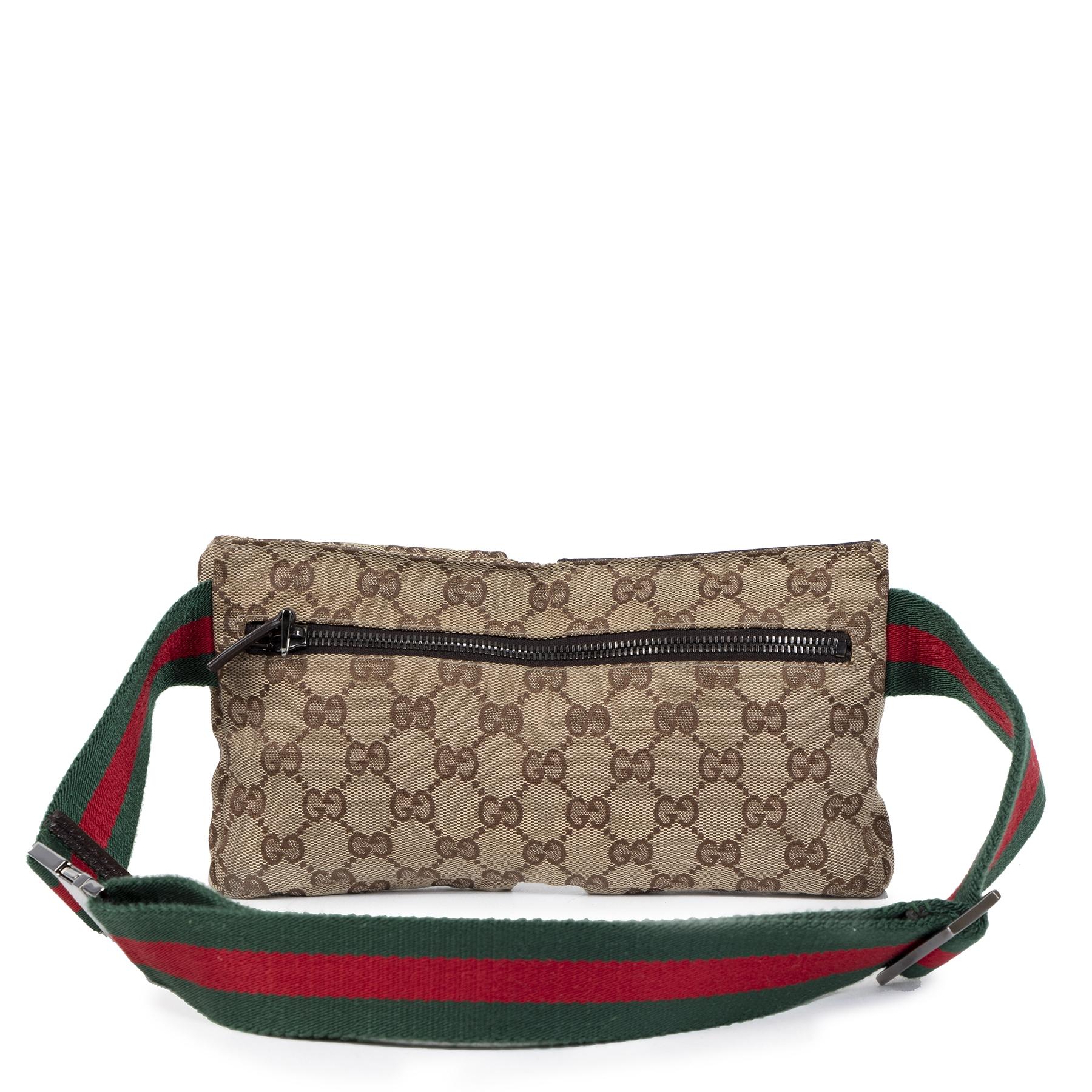 Authentic secondhand Gucci GG Monogram Web Belt Bag designer bags designer brands fashion safe secure online shopping worldwide shipping delivery
