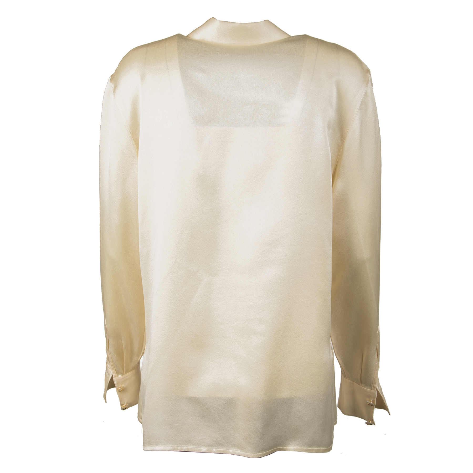 Chanel Cream Silk Blouse