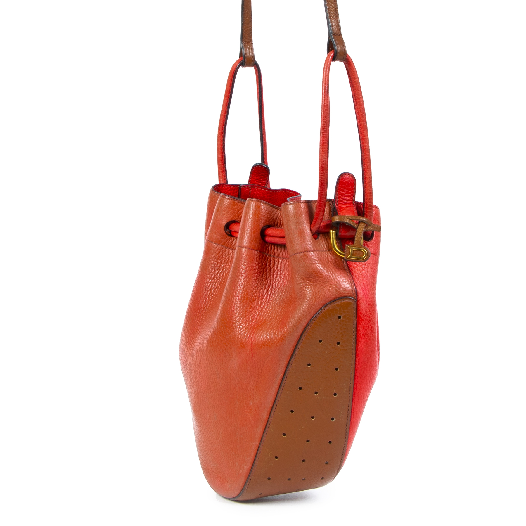 Koop Tweedehands Delvaux Multicolor Bucket Bag aan de juiste prijs in alle veiligheid LabelLOV luxe merken webshop Antwerpen België