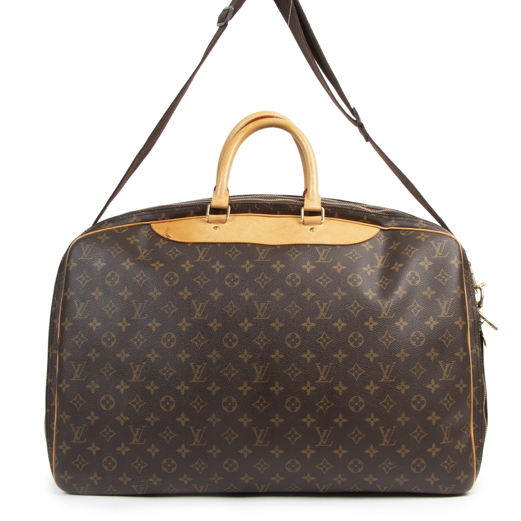 Authentic secondhand Louis Vuitton Monogram Alize 2 Compartment Luggage Travel Bag designer bags fashion luxury vintage webshop safe secure online shopping