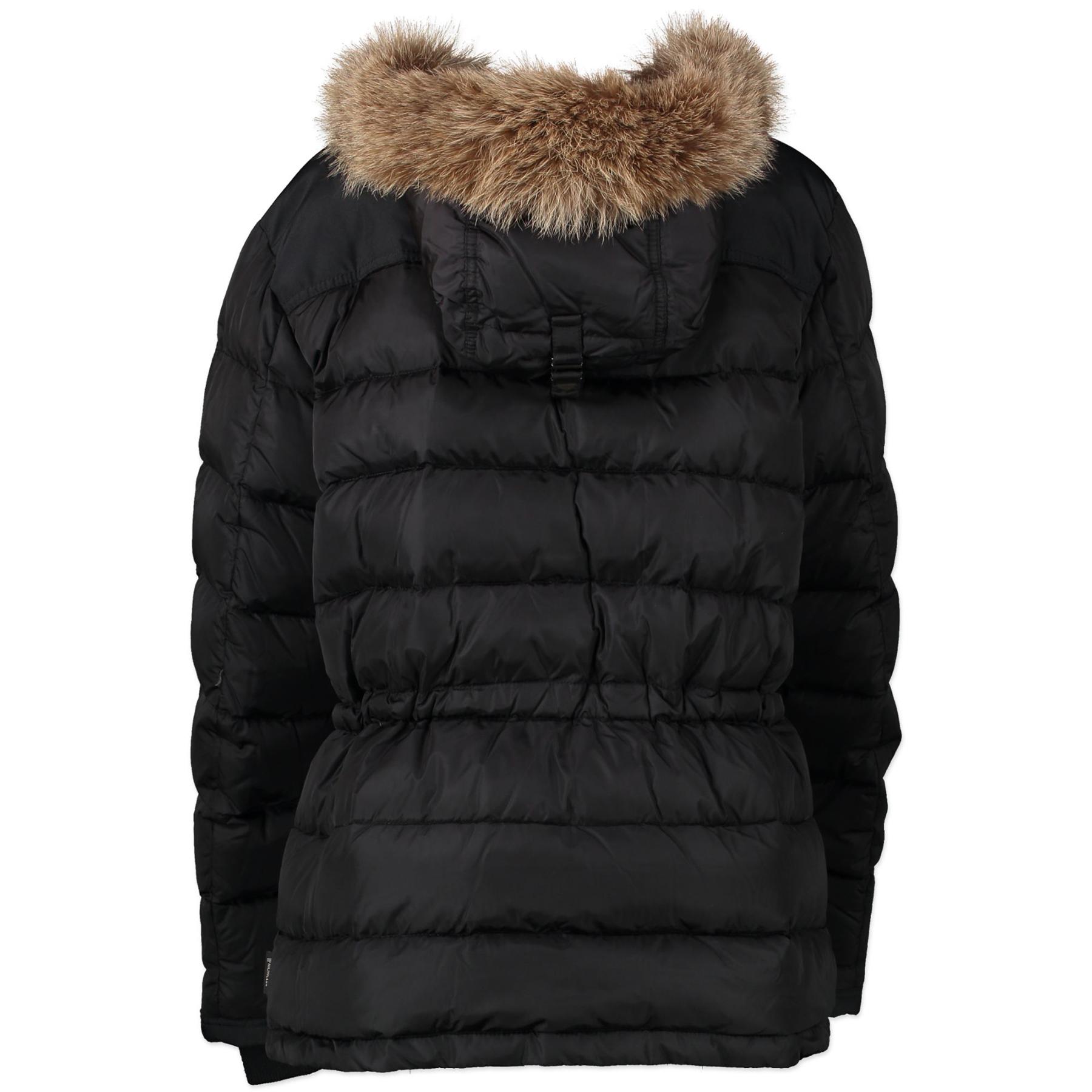 shop safe online Moncler Black Duffel Coat - size 3