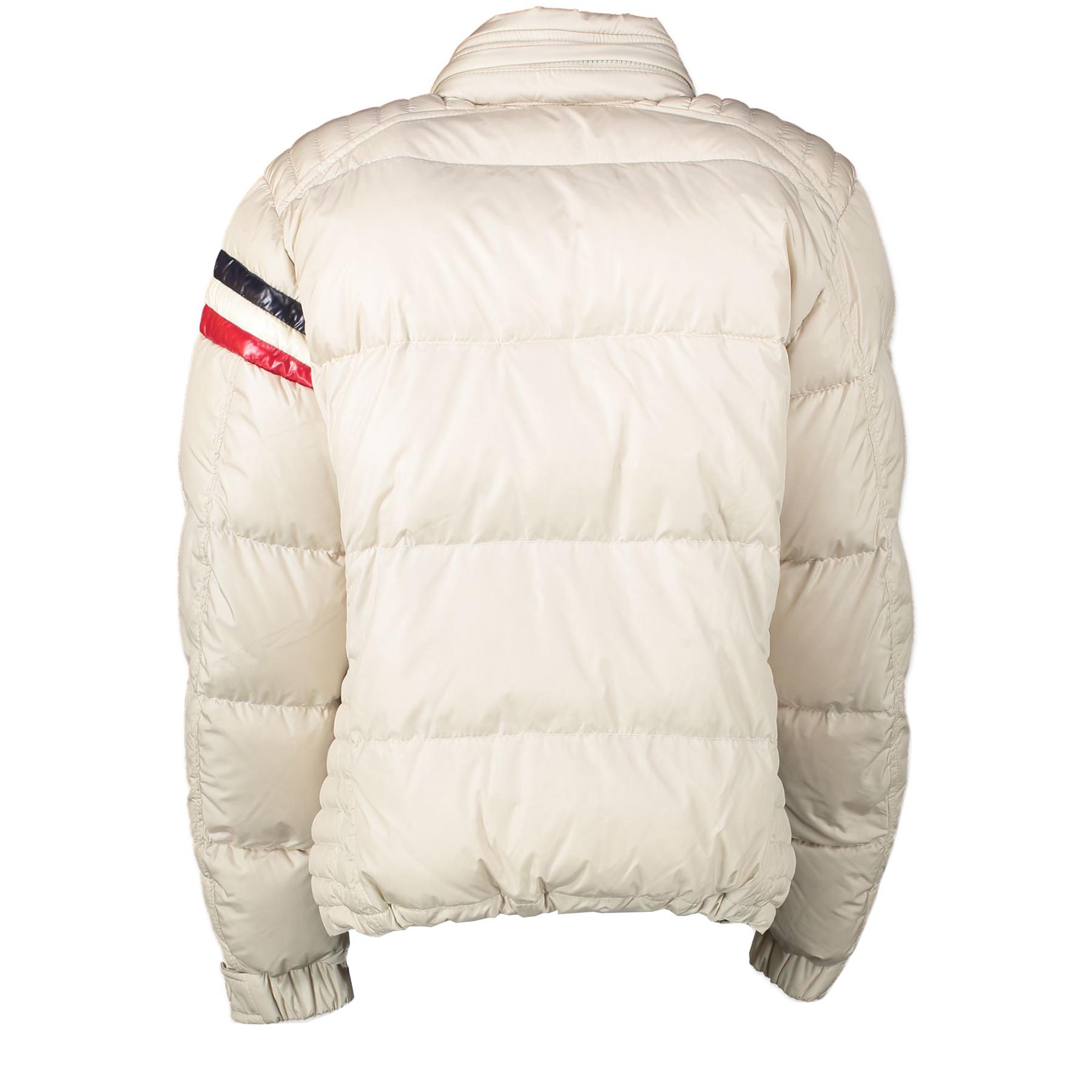 Authentieke Tweedehands Moncler Eggshell White Puffer Ski Jacket - Size 1 juiste prijs veilig online shoppen luxe merken webshop winkelen Antwerpen België mode fashion