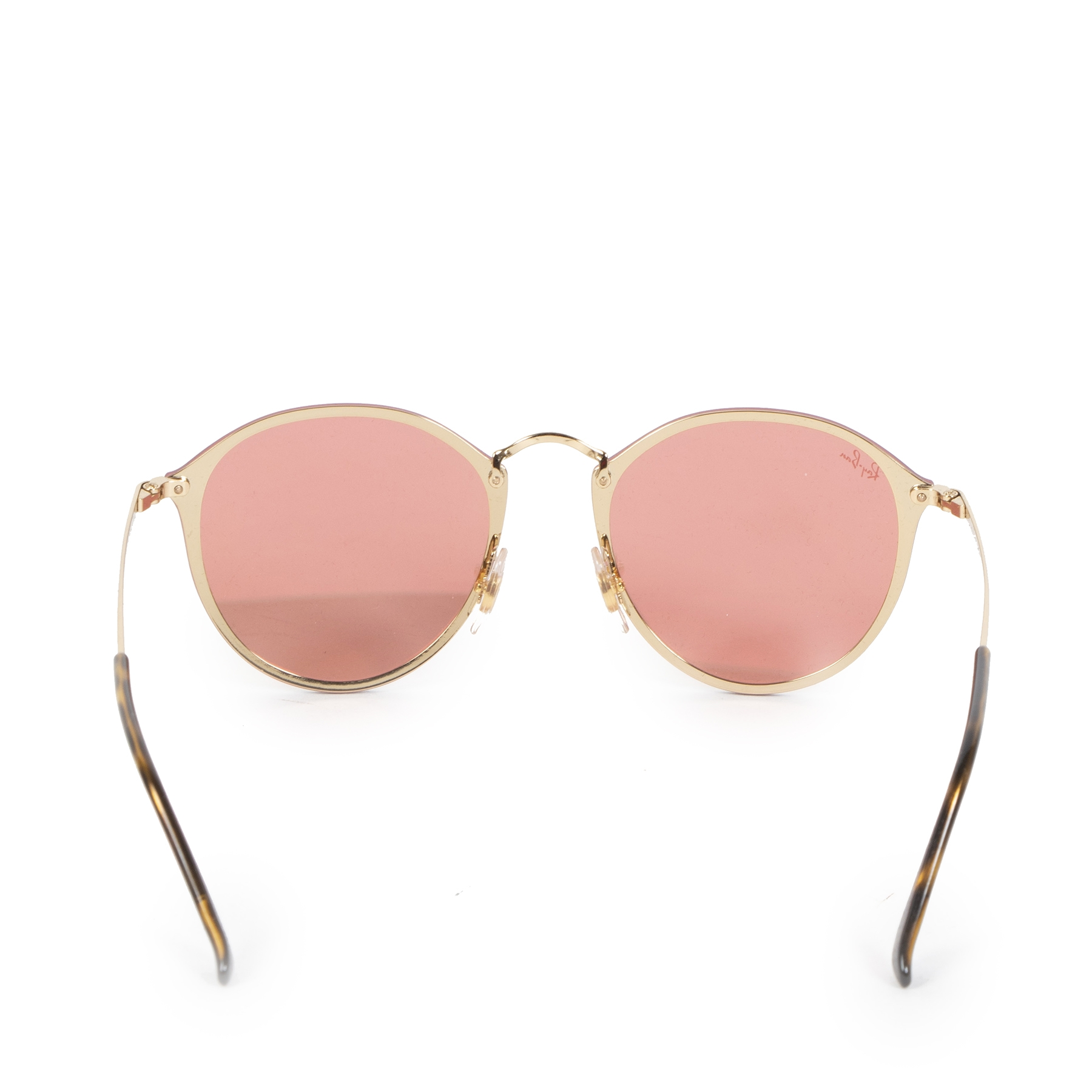 Authentic second-hand vintage Rayban Pink Blaze Round Sunglasses buy online webshop LabelLOV
