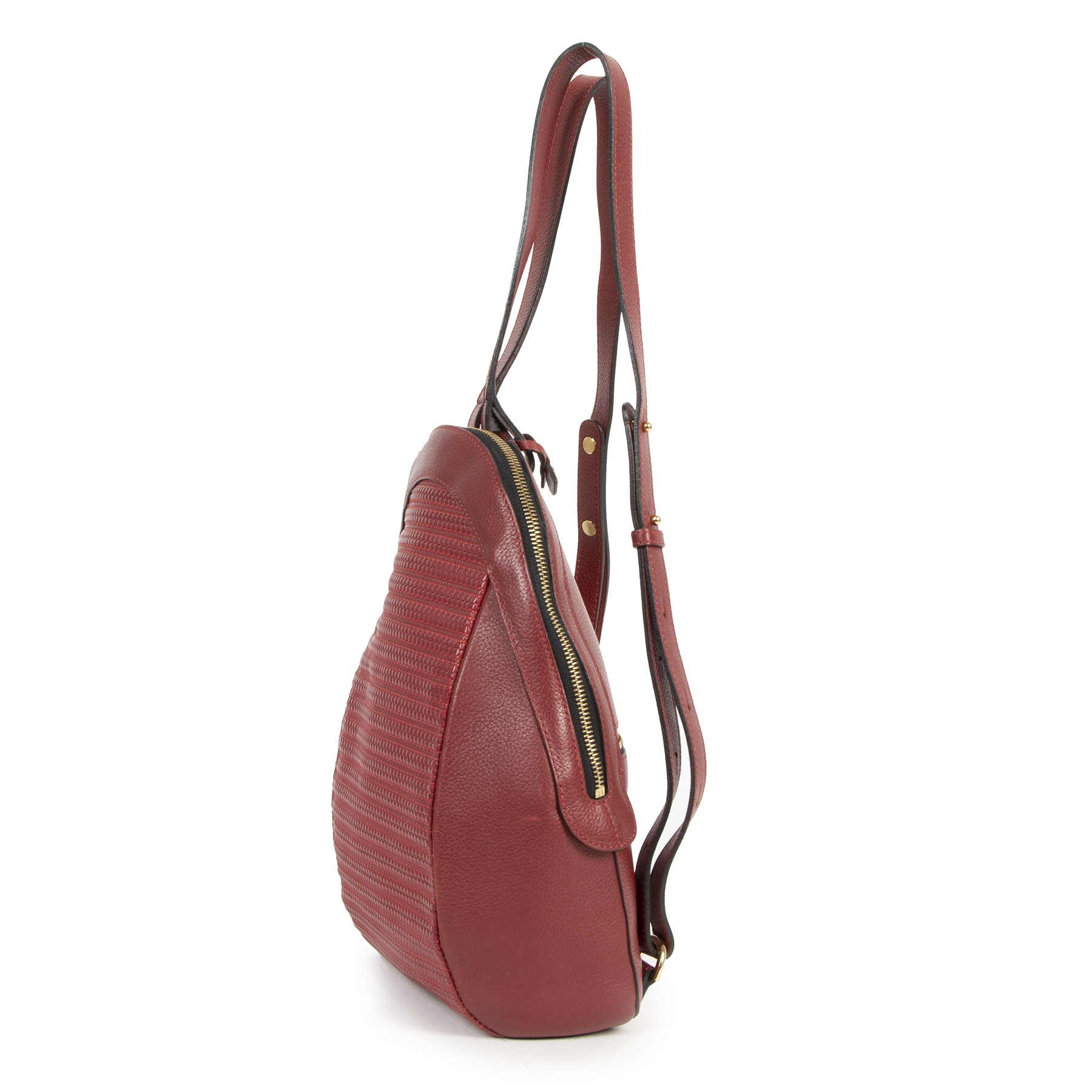 Delvaux Red Azov Backpack secondhand at the right price safe and secure online at LabelLOV Antwerp Belgium