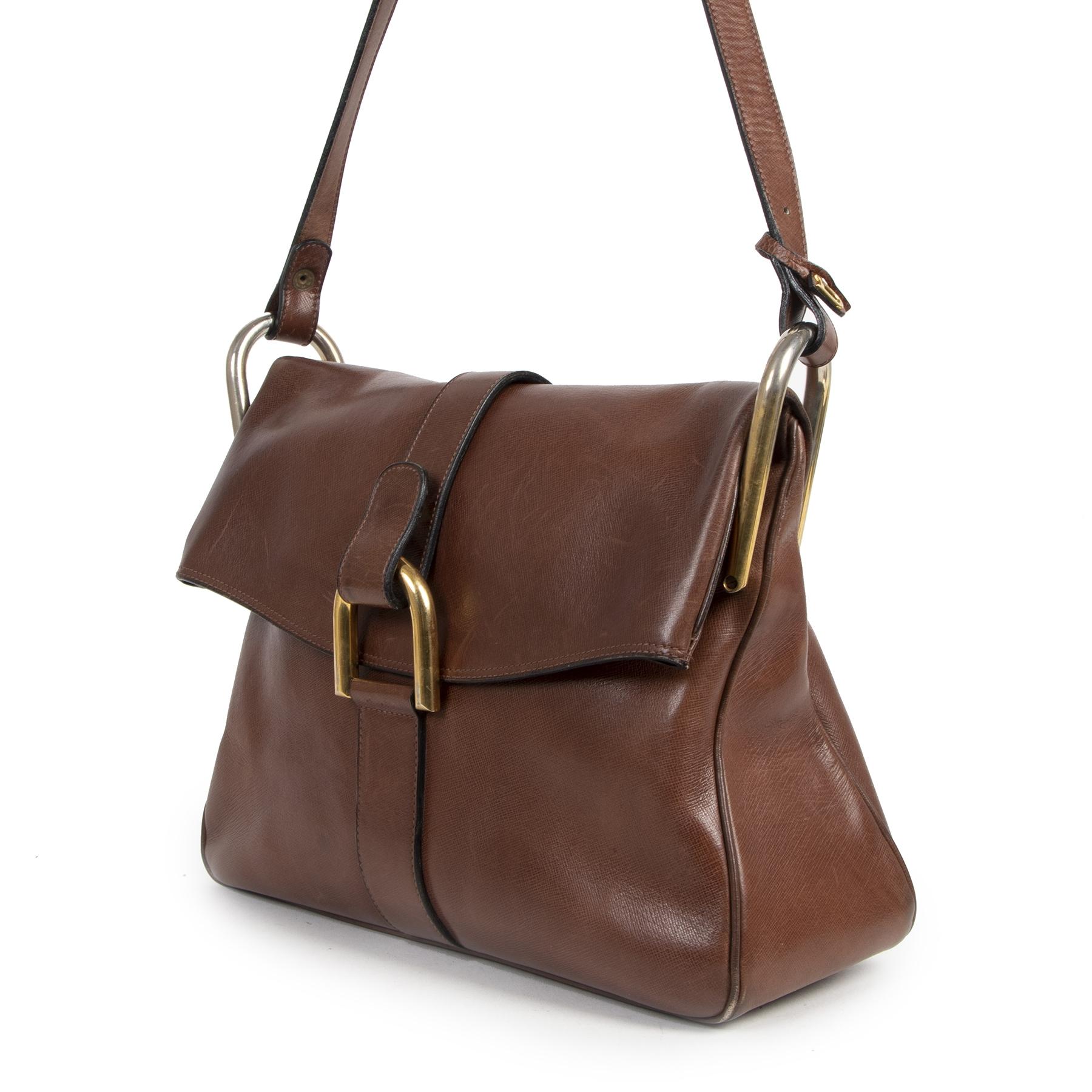 Delvaux Brown Givry Shoulder Bag te koop bij labellov