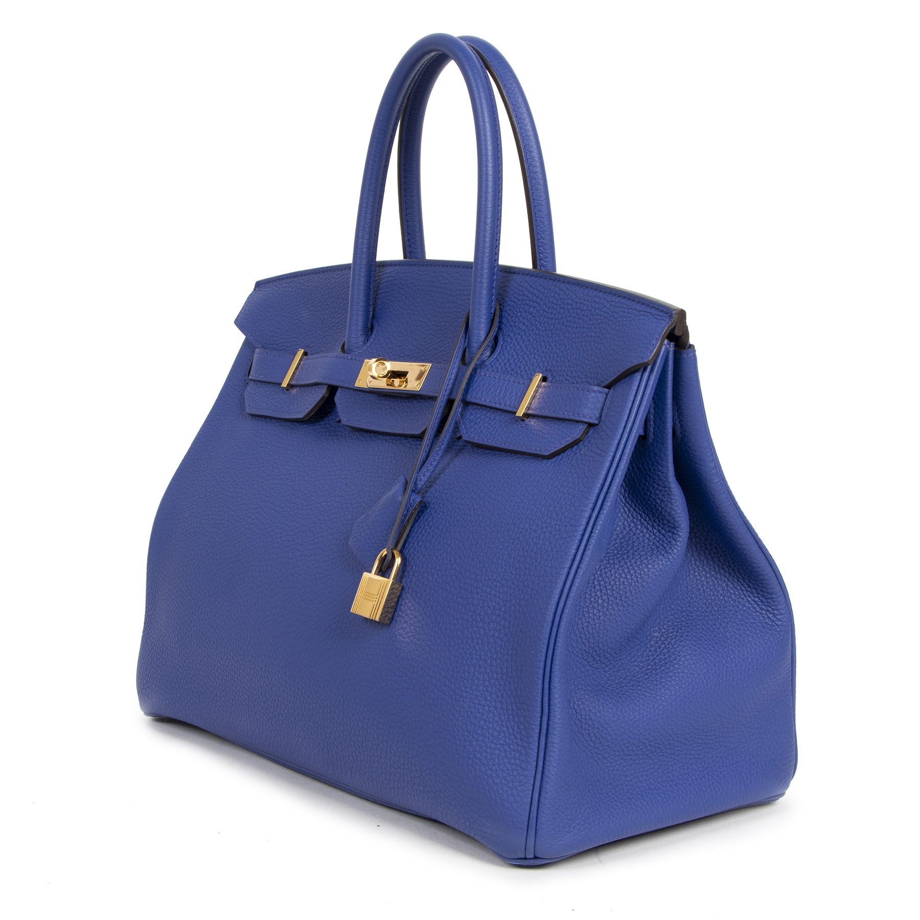 acheter en ligne seconde main As New Hermes Birkin 35 Blue Electrique GHW