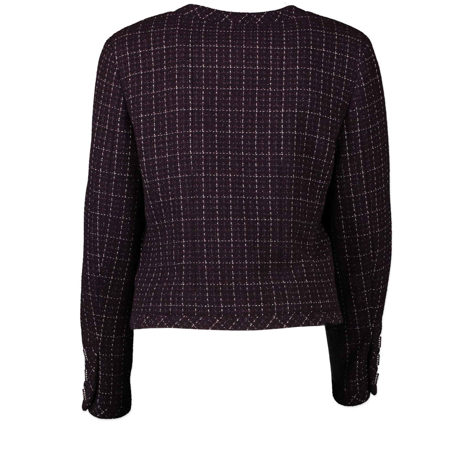 Chanel Purple Tweed Jacket - Size 40