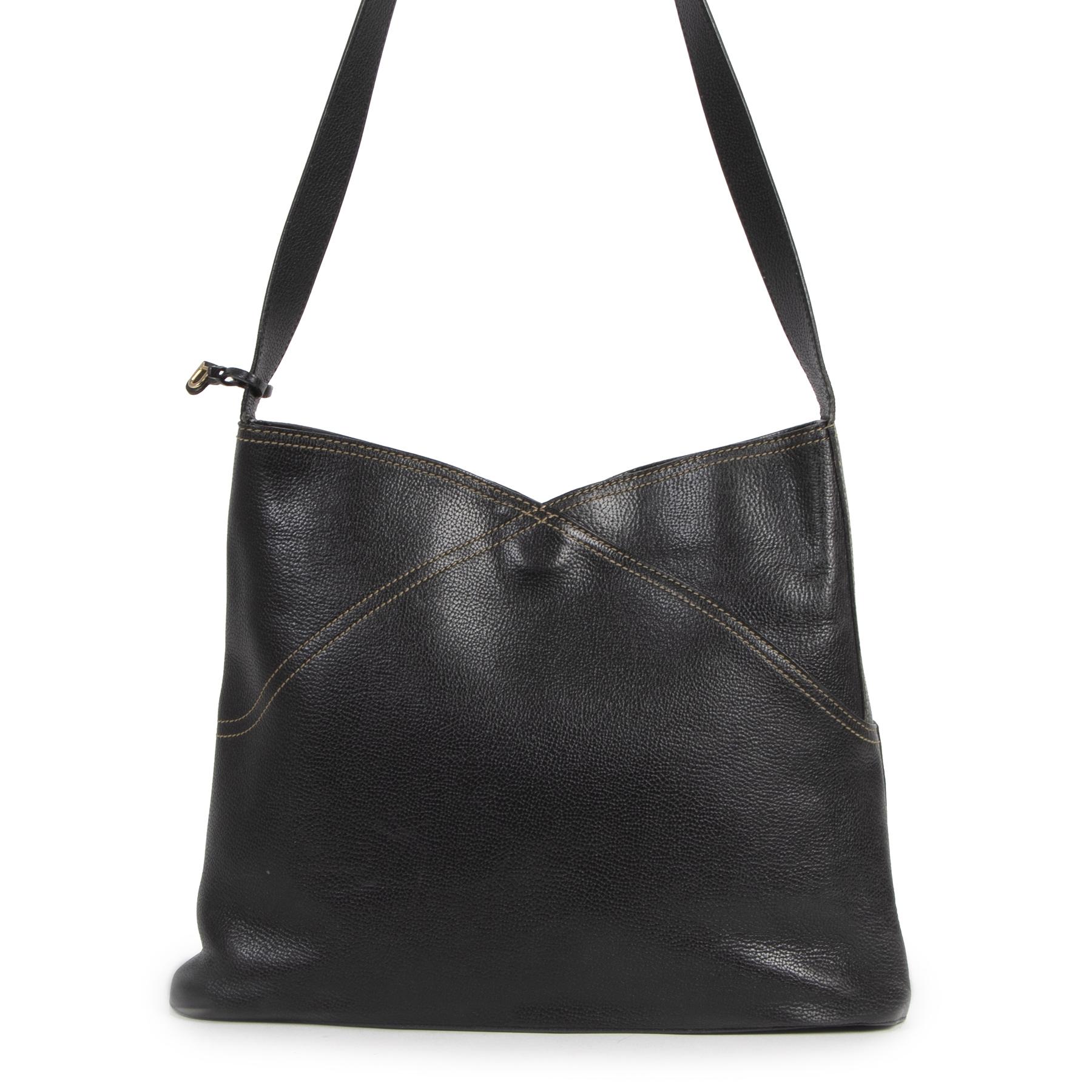 Delvaux Black Bernol Shoulder Bag