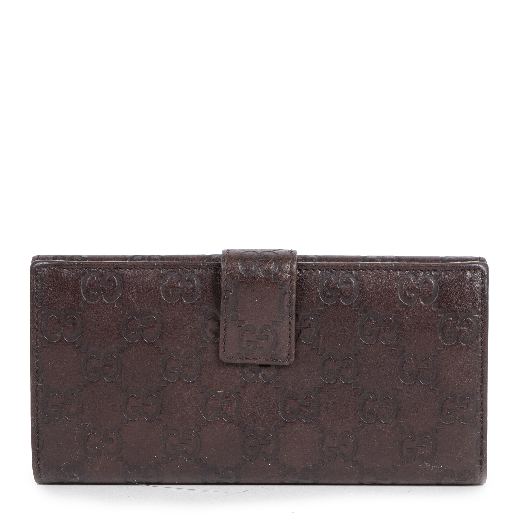 Buy authentic secondhand Gucci Shima GG Logo Brown Leather Long Wallet  at the right price at LabelLOV vintage webshop. Safe and secure online shopping. Koop authentieke tweedehands Gucci Shima GG Logo Brown Leather Long Wallet  met de juiste prijs bij La
