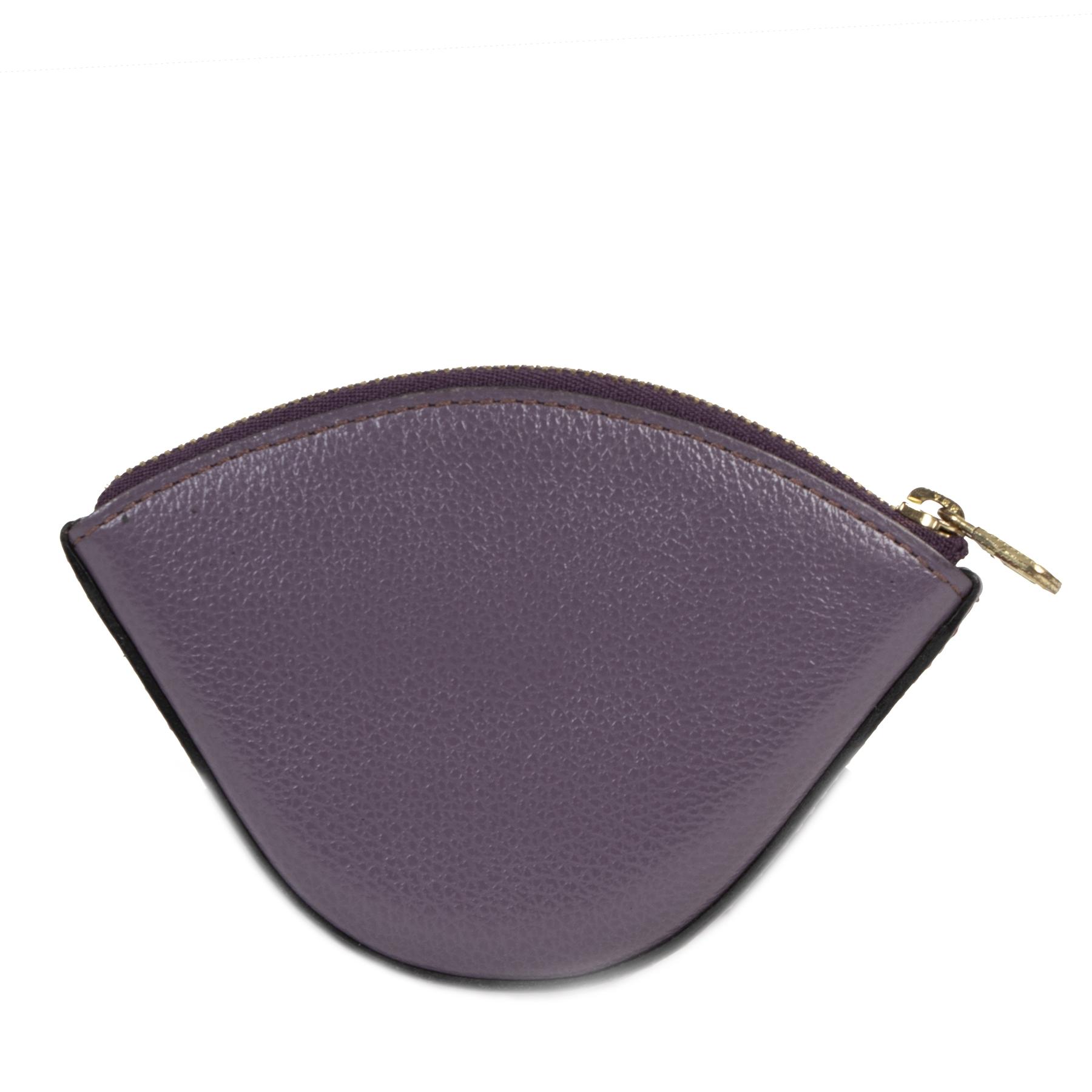 Authentieke Tweedehands Delvaux Purple Leather Coin Pouch juiste prijs veilig online shoppen luxe merken webshop winkelen Antwerpen België mode fashion