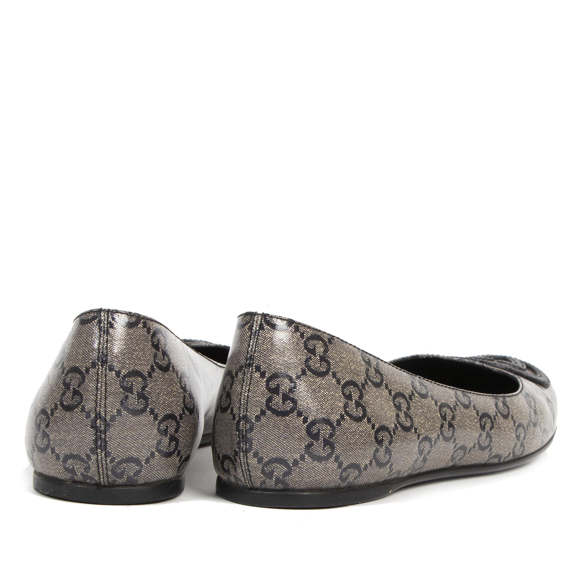 Gucci Monogram Ballerina Flats - Size 36